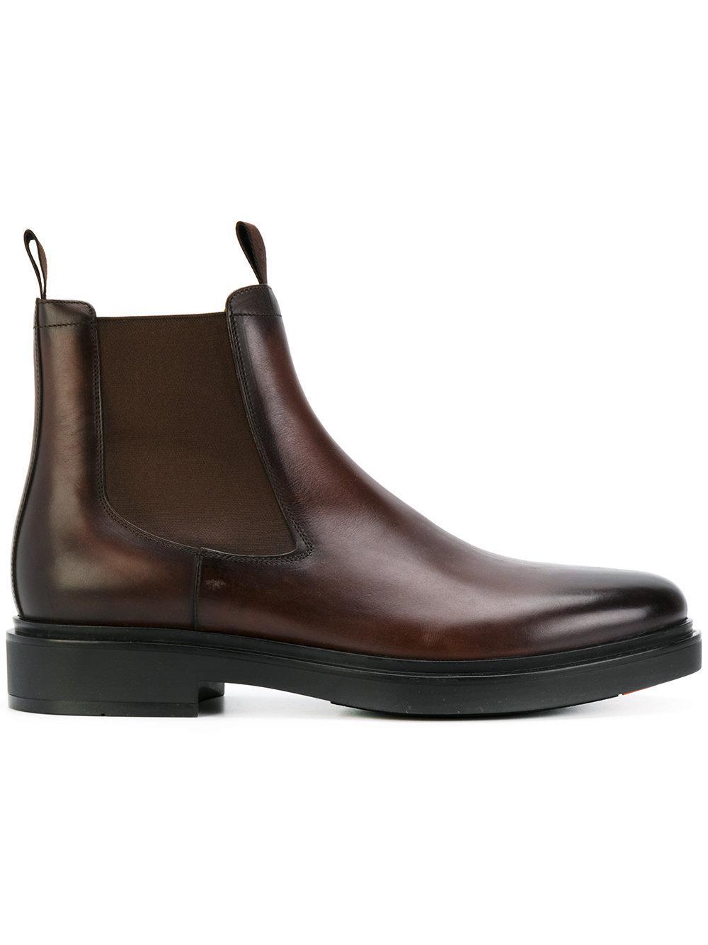 62b76fde0c3c8 Santoni Beatles Ankle Boots in Brown - Lyst