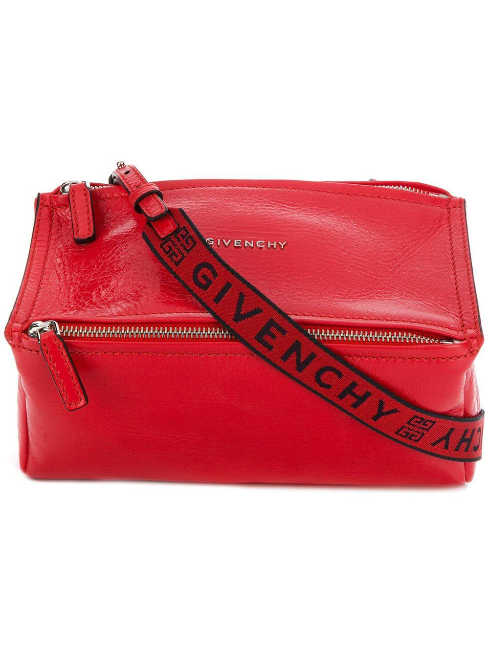 Givenchy - Red Pandora Mini Leather Shoulder Bag - Lyst. View fullscreen 0b275f6be5