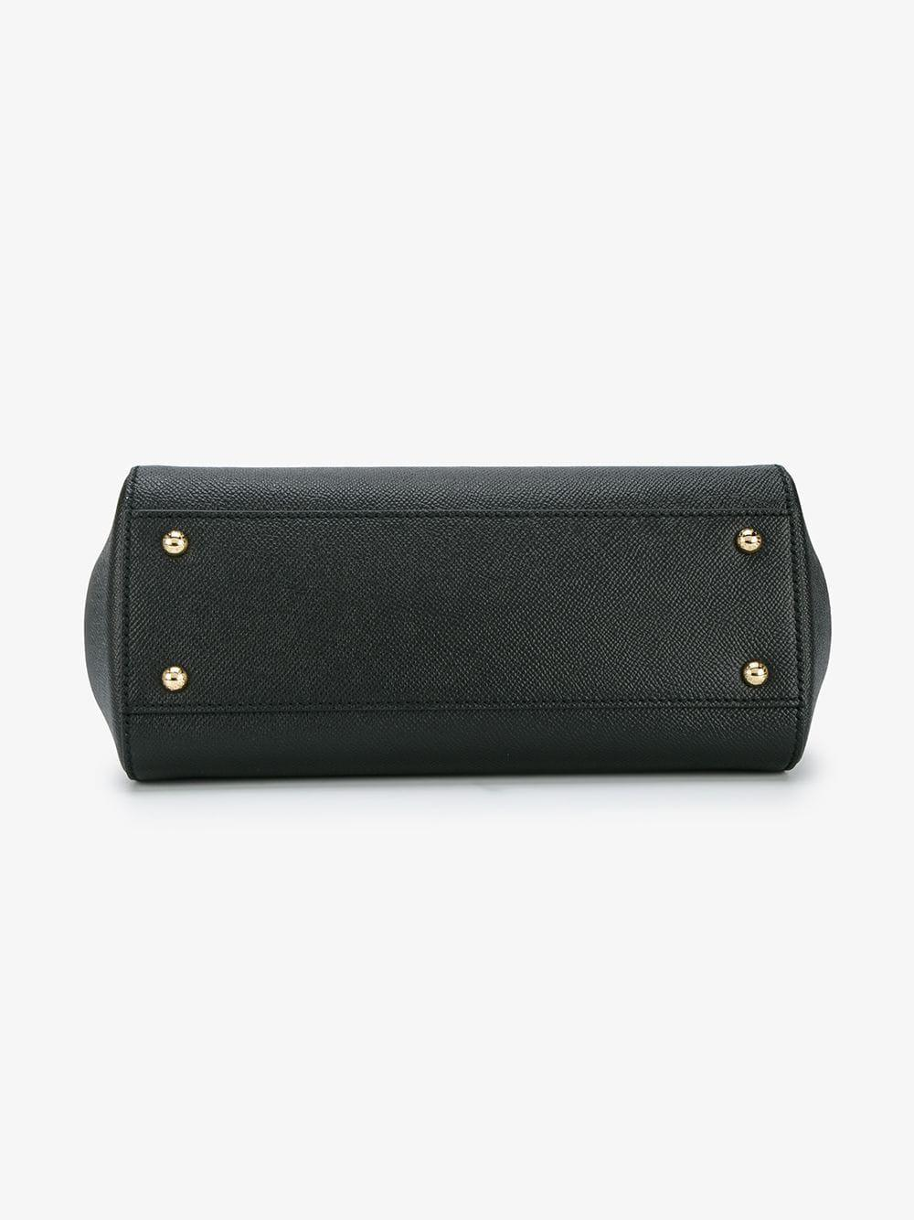 Dolce   Gabbana - Black Miss Sicily Leather Handbag - Lyst. View fullscreen 0faf065cc60