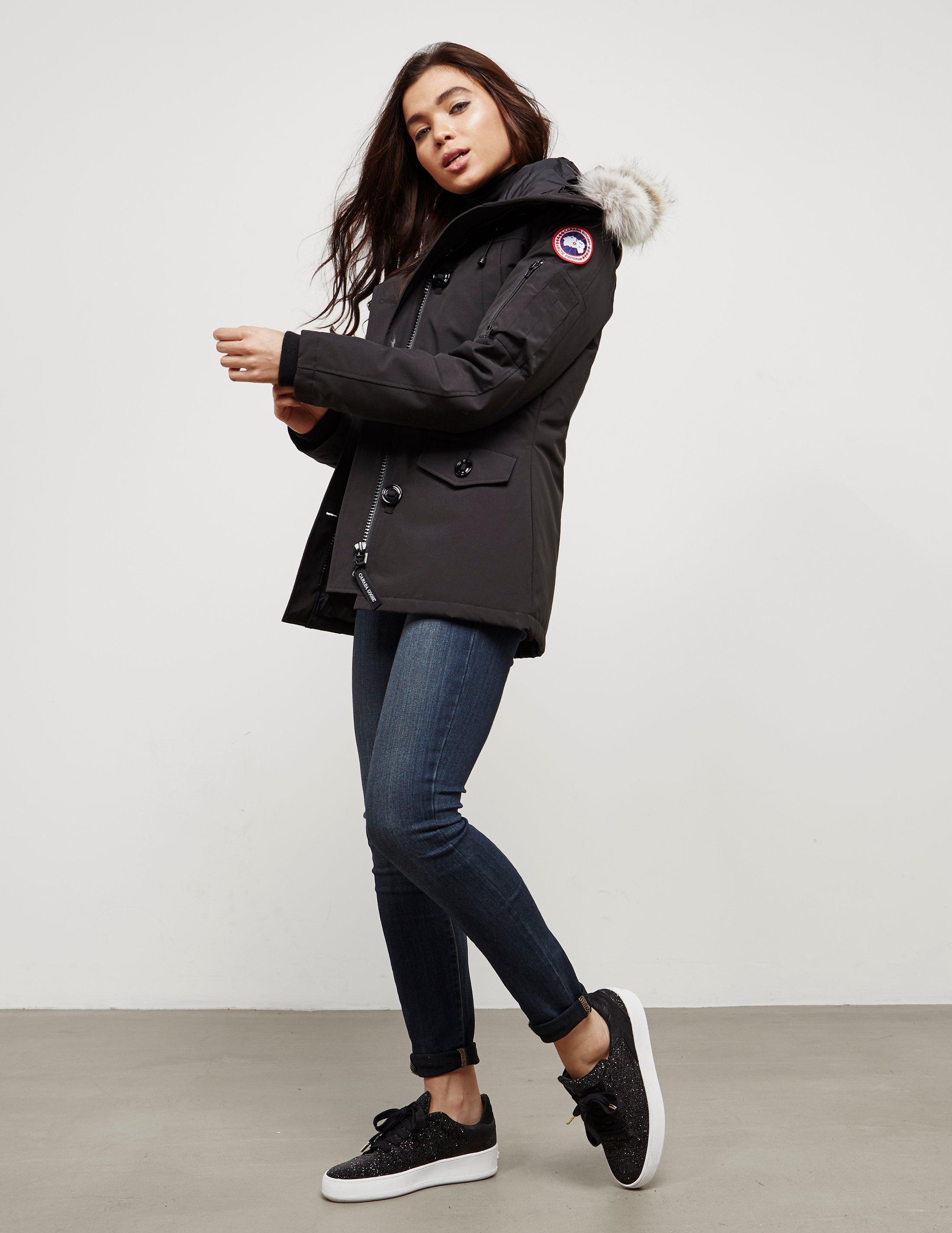 ff0906a6676 Canada Goose Montebello Parka Jacket in Black - Lyst