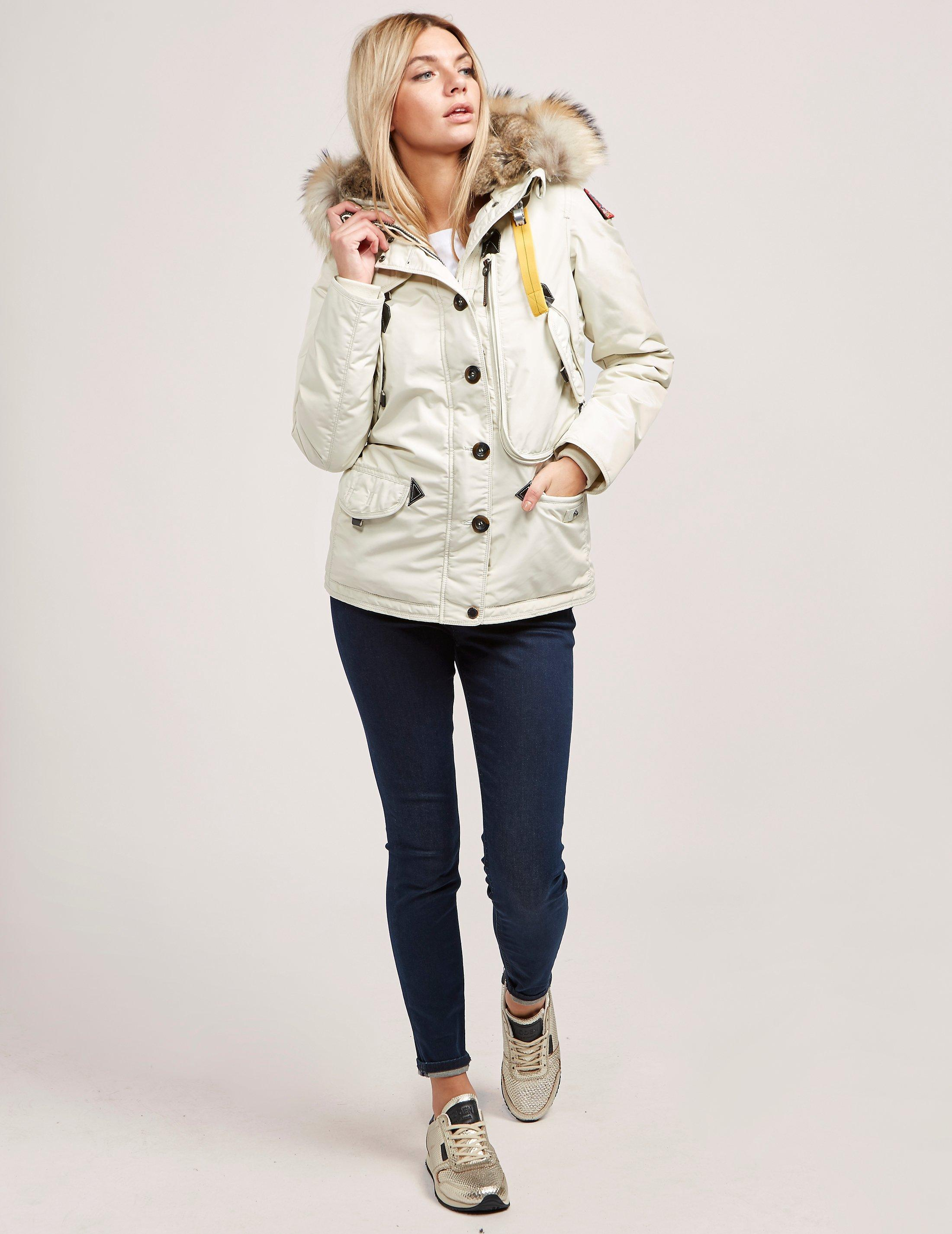 Lyst - Parajumpers Womens Doris Padded Parka Jacket White in White - Save 34.72348141432457%