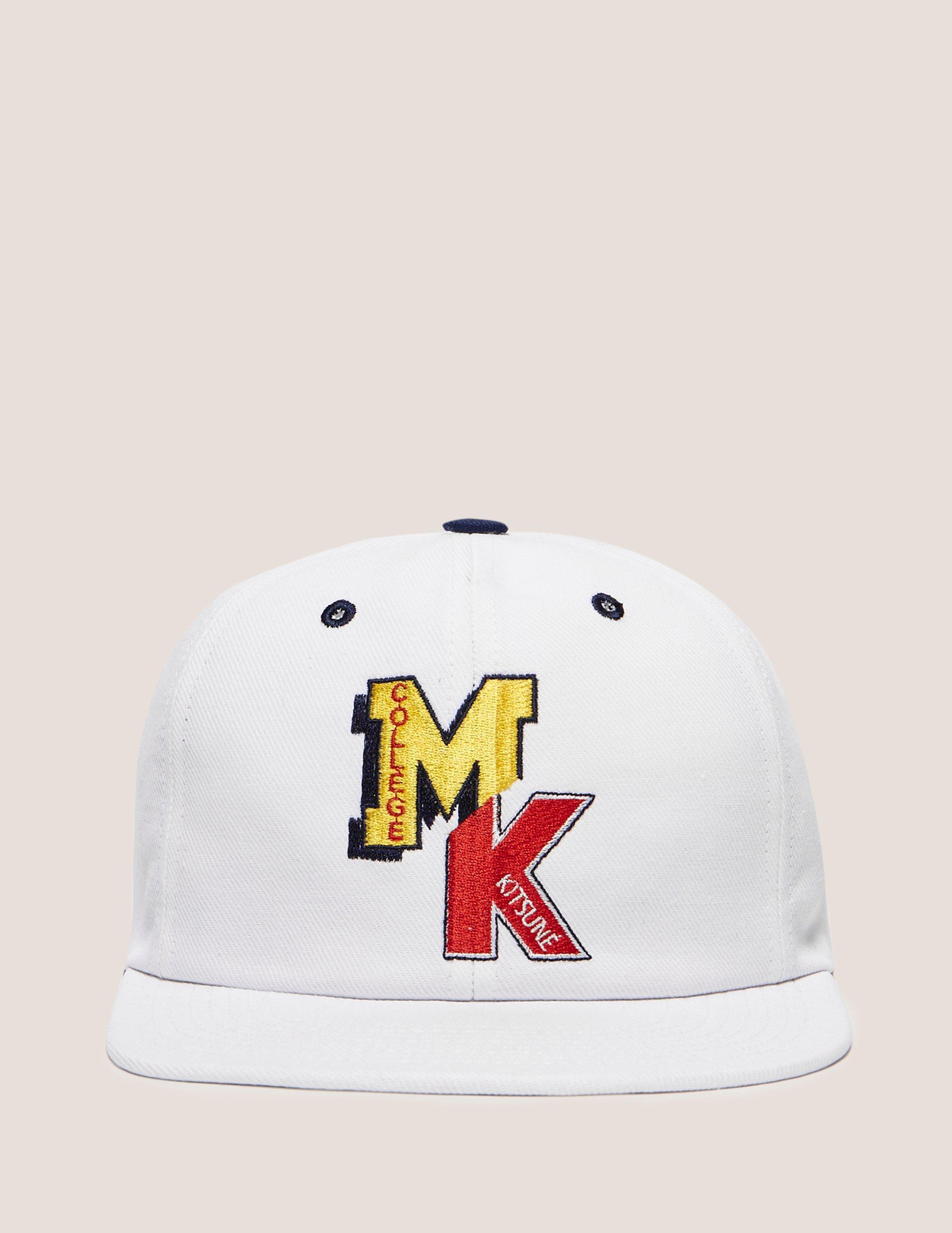Lyst - Maison Kitsuné Mens College Cap White in White for Men b73915608bb6