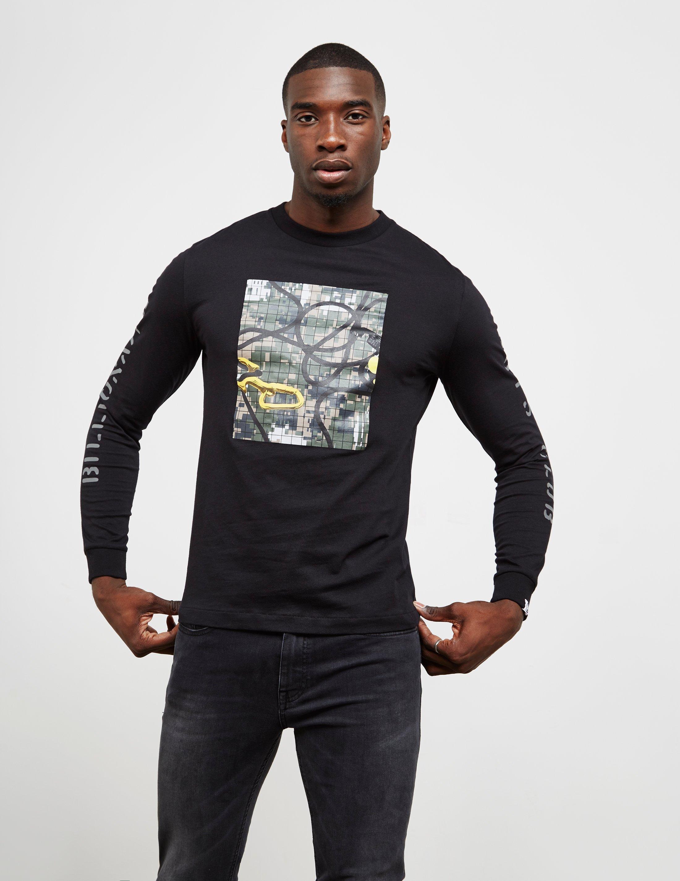 740bfeae83 Lyst - Bbcicecream Mens Camouflage Square Long Sleeve T-shirt Black ...