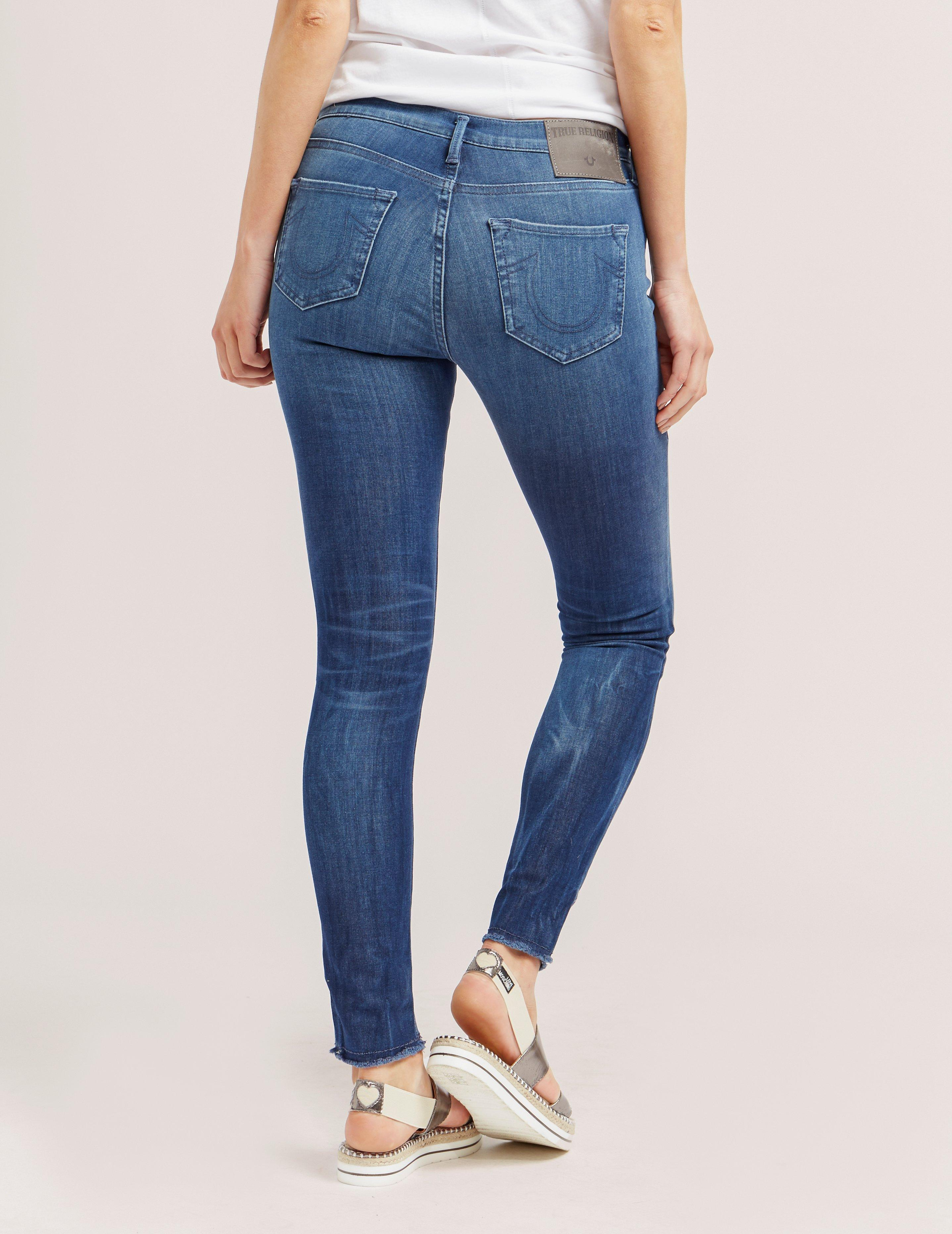 0fb34beb010 True Religion Halle Skinny Jeans Blue in Blue - Save 44% - Lyst