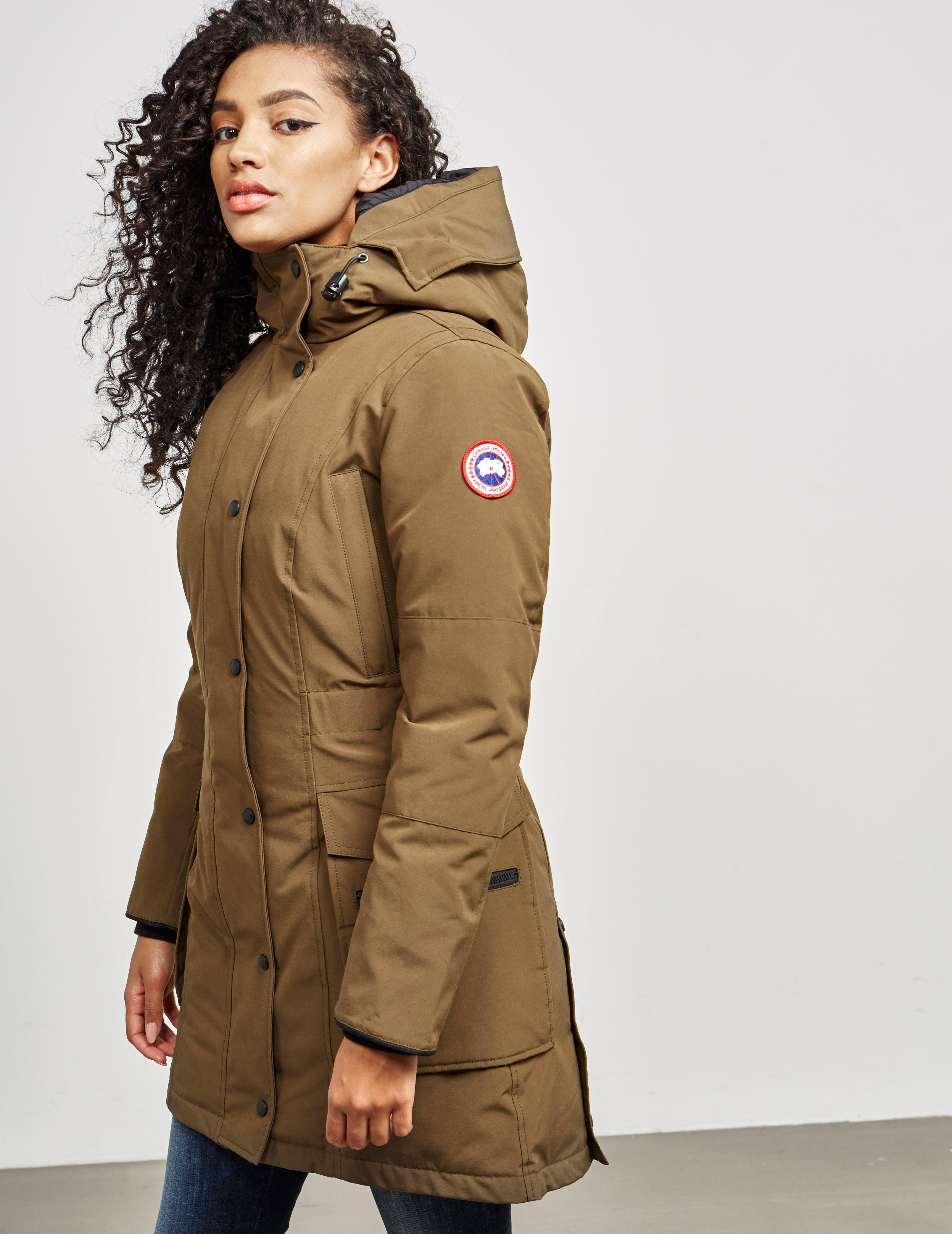 46f8cab2d Lyst - Canada Goose Womens Kinley Parka Padded Jacket Khaki in Natural