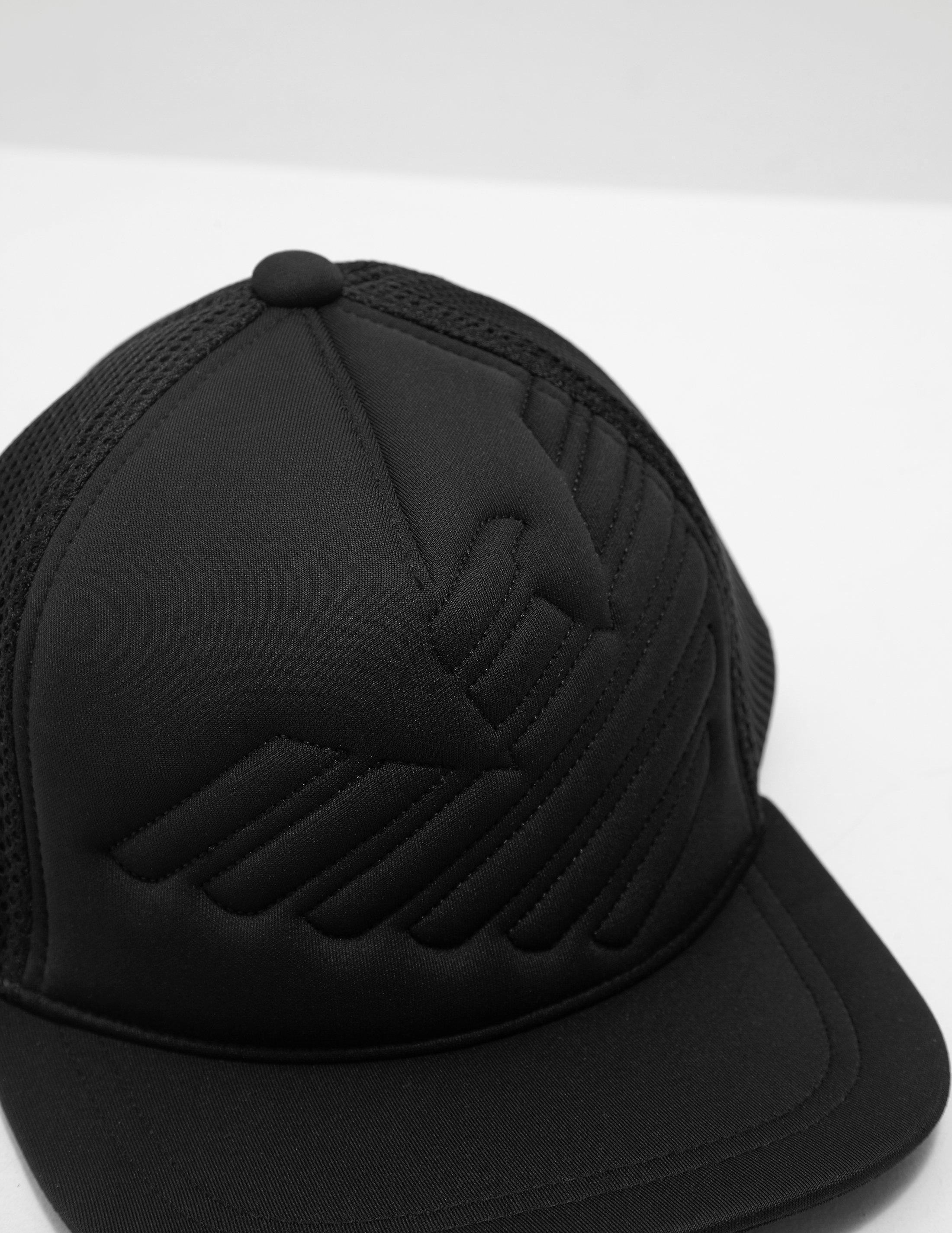8b57cc8153d Lyst - Emporio Armani Eagle Cap Black in Black for Men