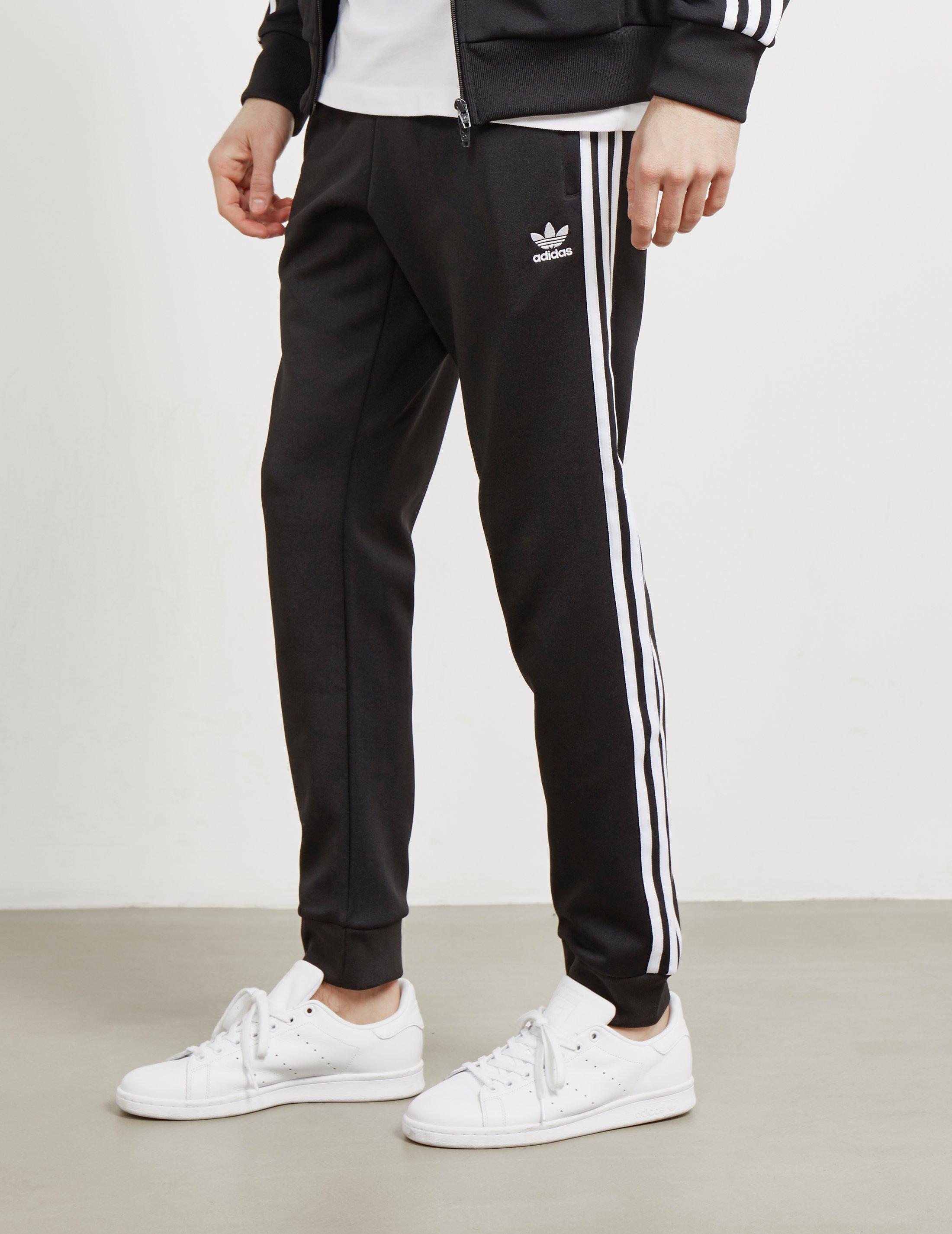 300641643 adidas Originals Superstar Cuffed Track Pants Black in Black - Lyst