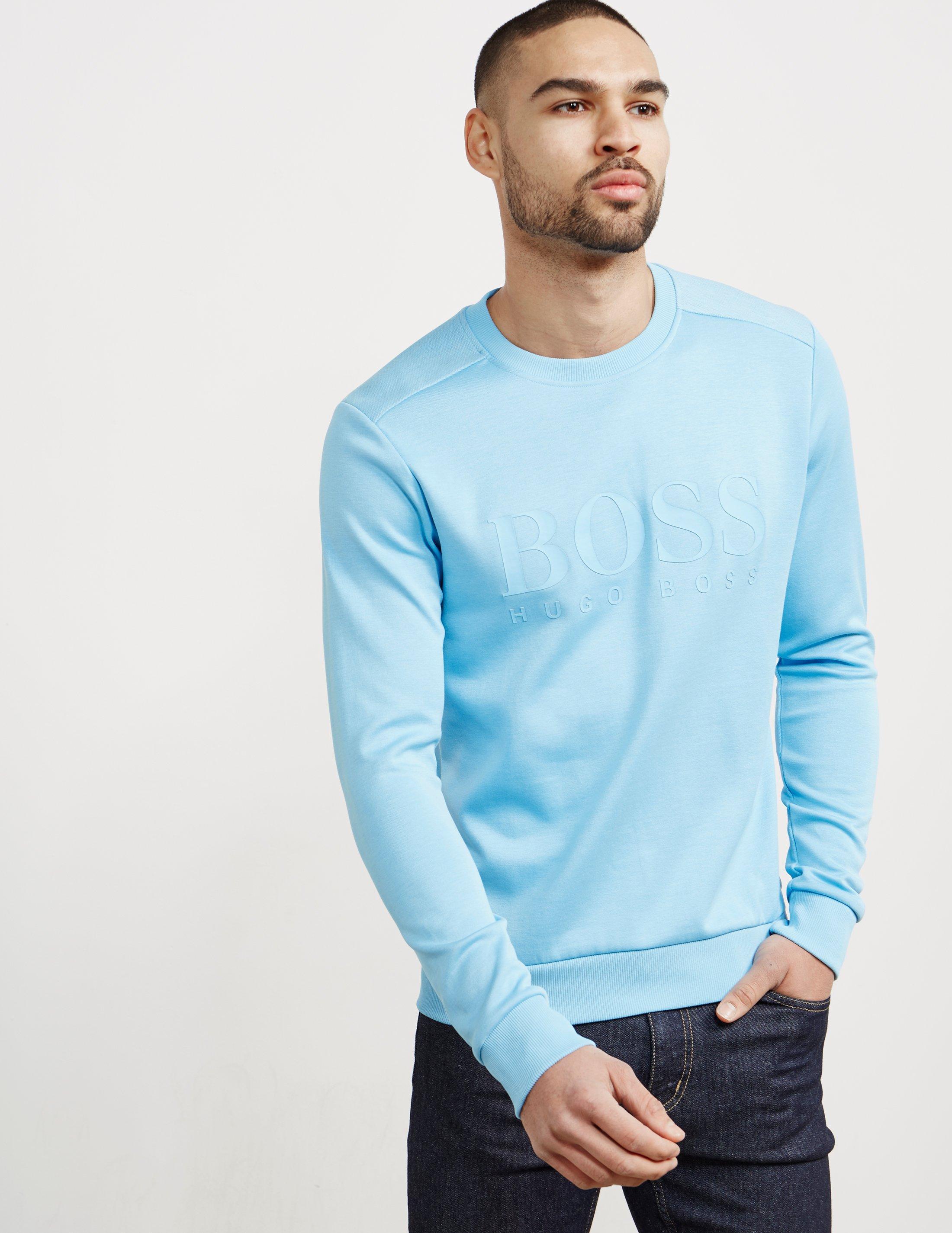 42904e0be BOSS Salbo Sweatshirt Blue in Blue for Men - Lyst