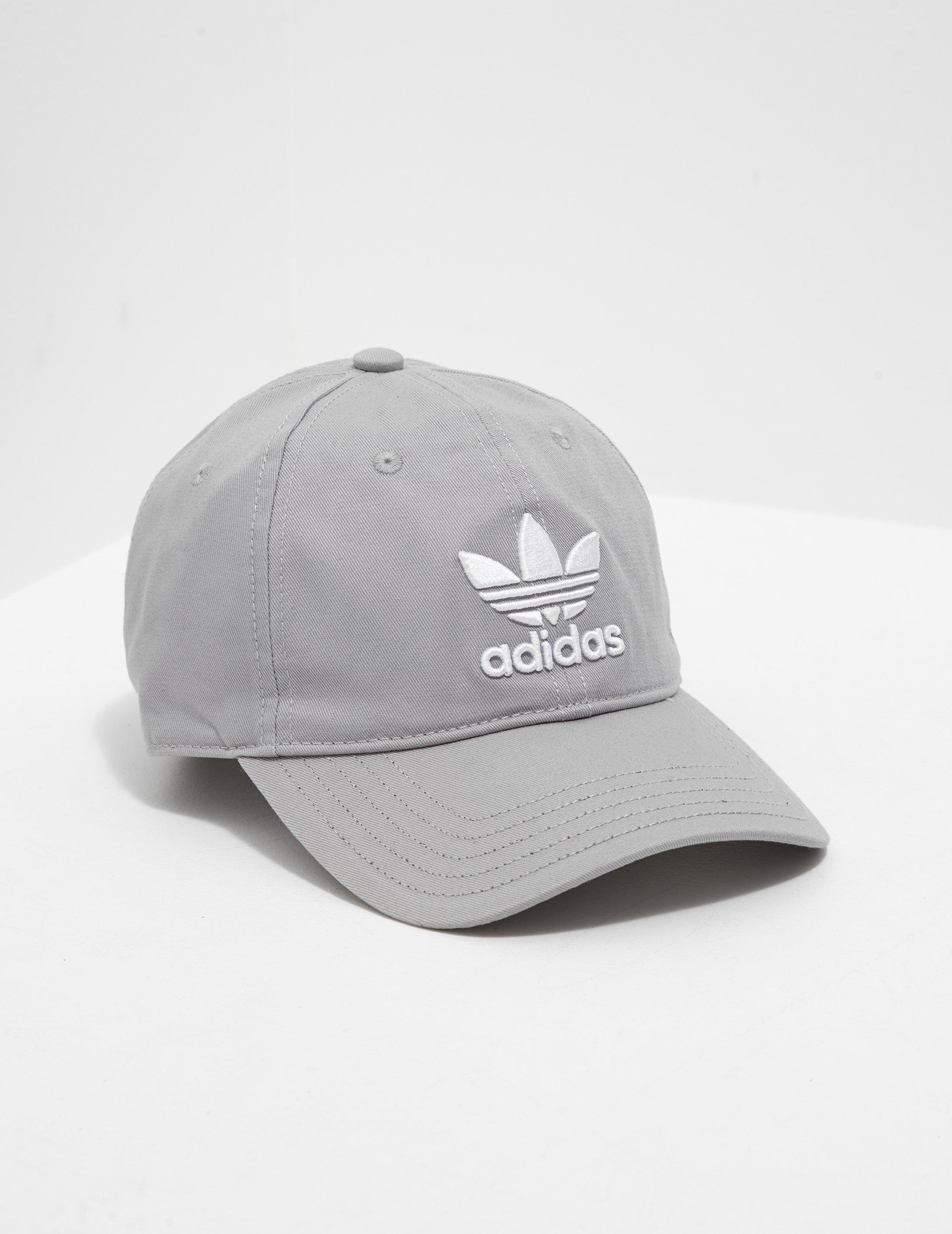 018d847f adidas Originals Mens Trefoil Classic Cap Grey in Gray for Men - Lyst