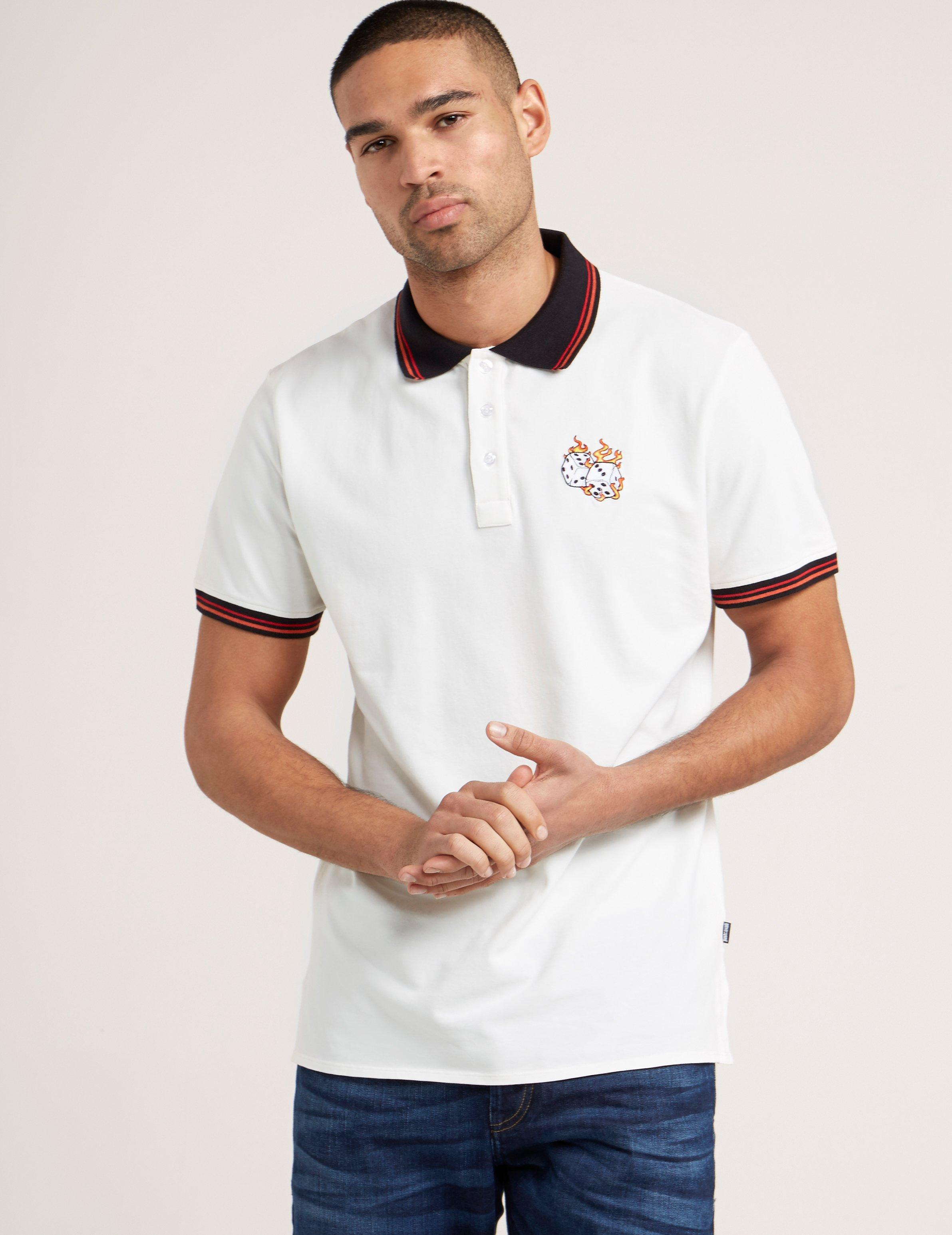 95555a7d Lyst - Just Cavalli Dice Short Sleeve Polo Shirt in White for Men