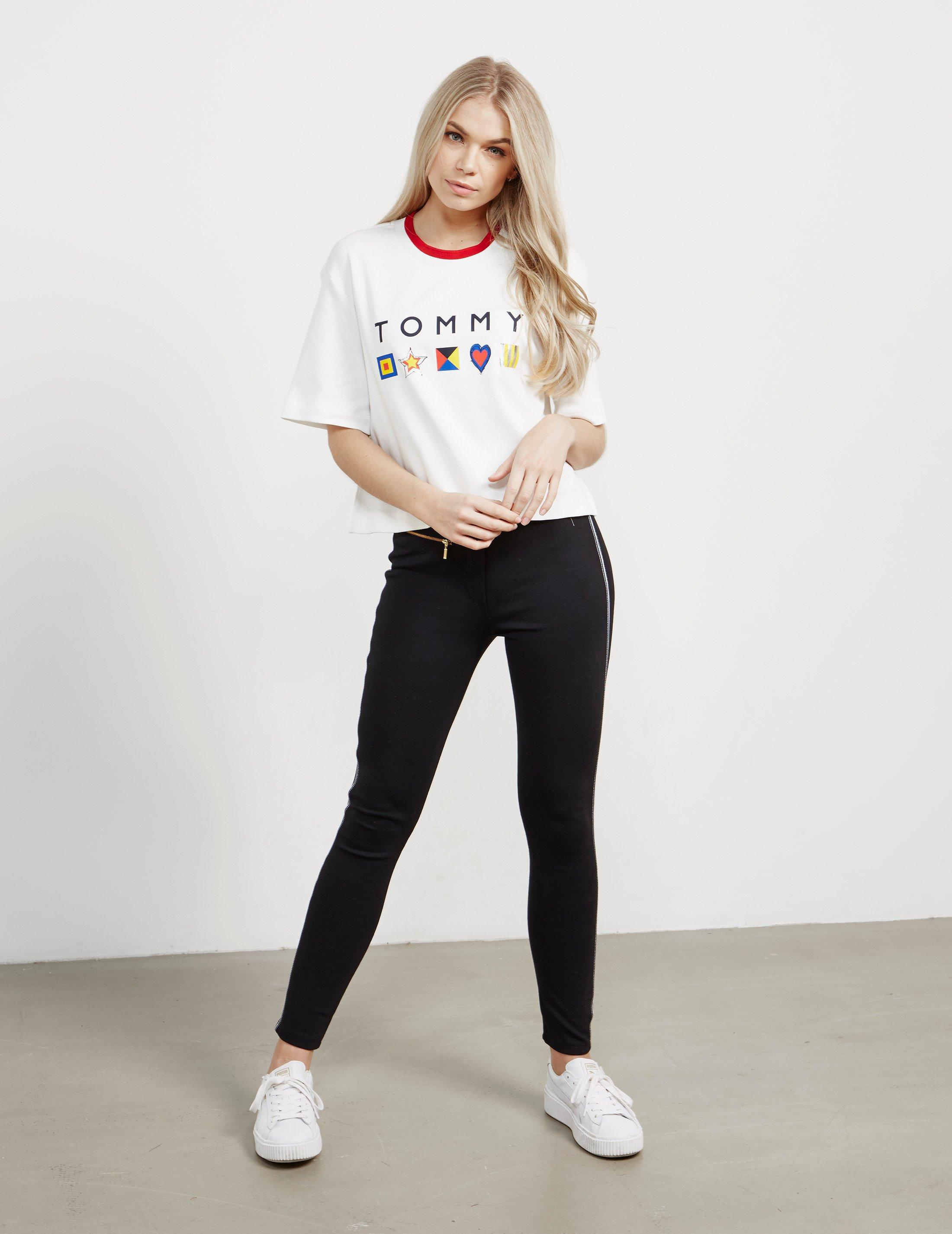 b3f574749 Tommy Hilfiger Womens Abby Short Sleeve T-shirt - Online Exclusive ...