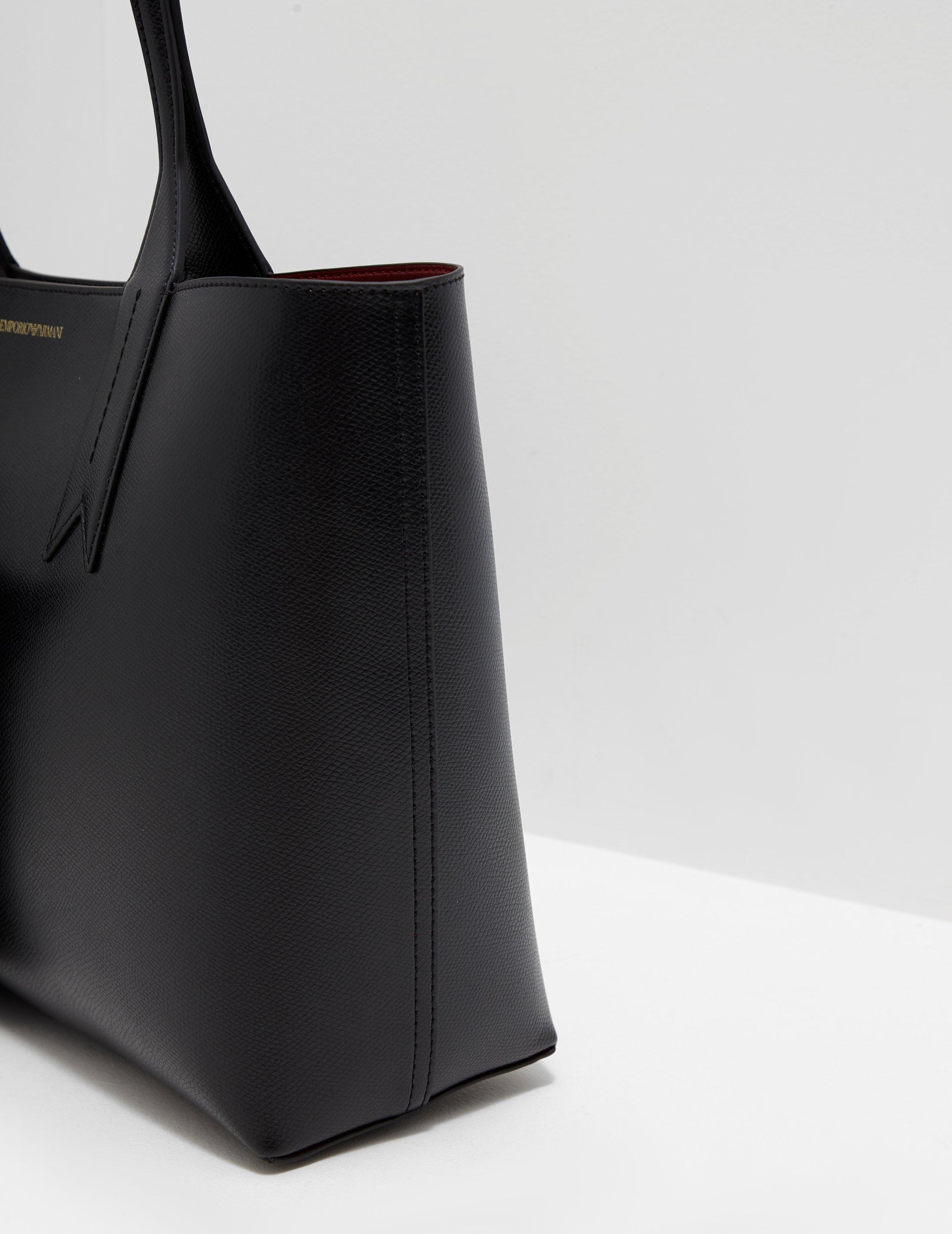 ae189309d ... Emporio Armani - Borsa Large Shopper Bag Black - Lyst. Visit Tessuti  UK. Tap to visit site