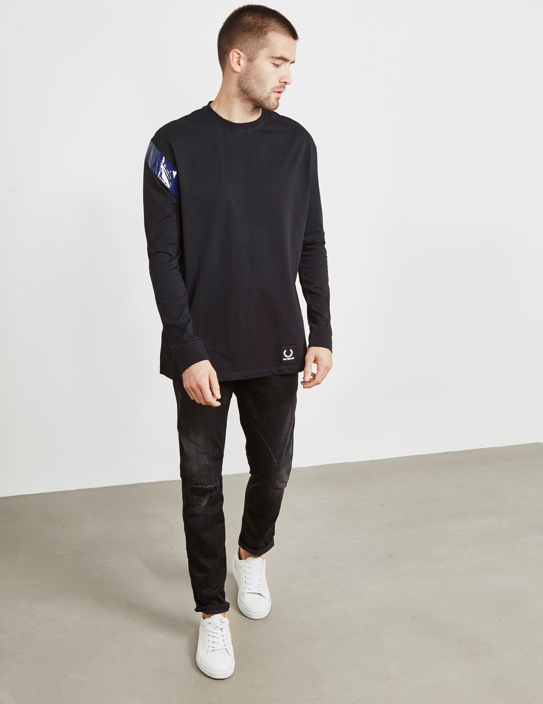 410d4e2c Lyst - Fred Perry X Raf Simons Long Sleeve Tape T-shirt Black in Black for  Men
