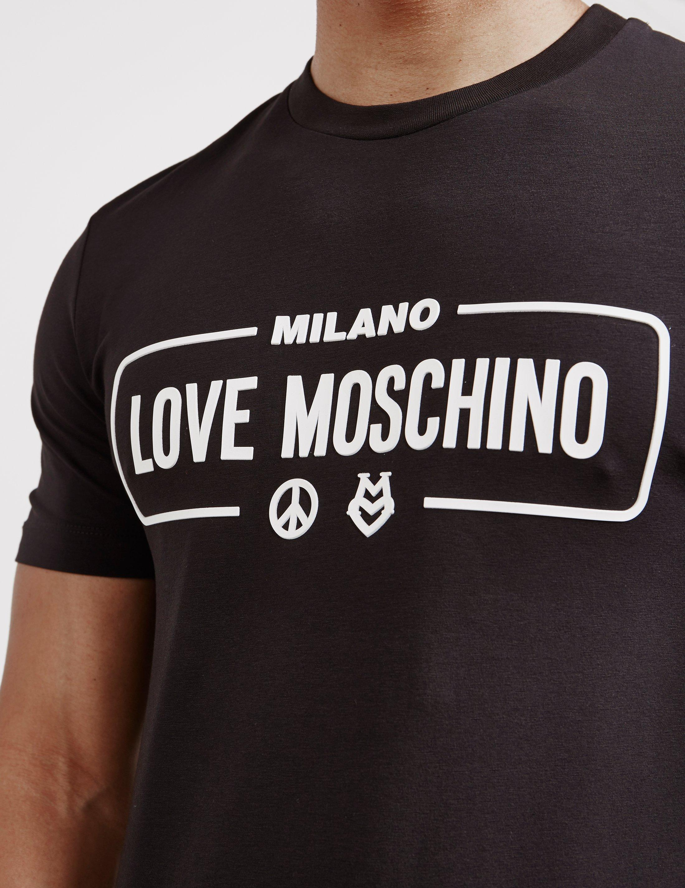 90c6fe25e Love Moschino Mens Milano Short Sleeve T-shirt Black in Black for ...