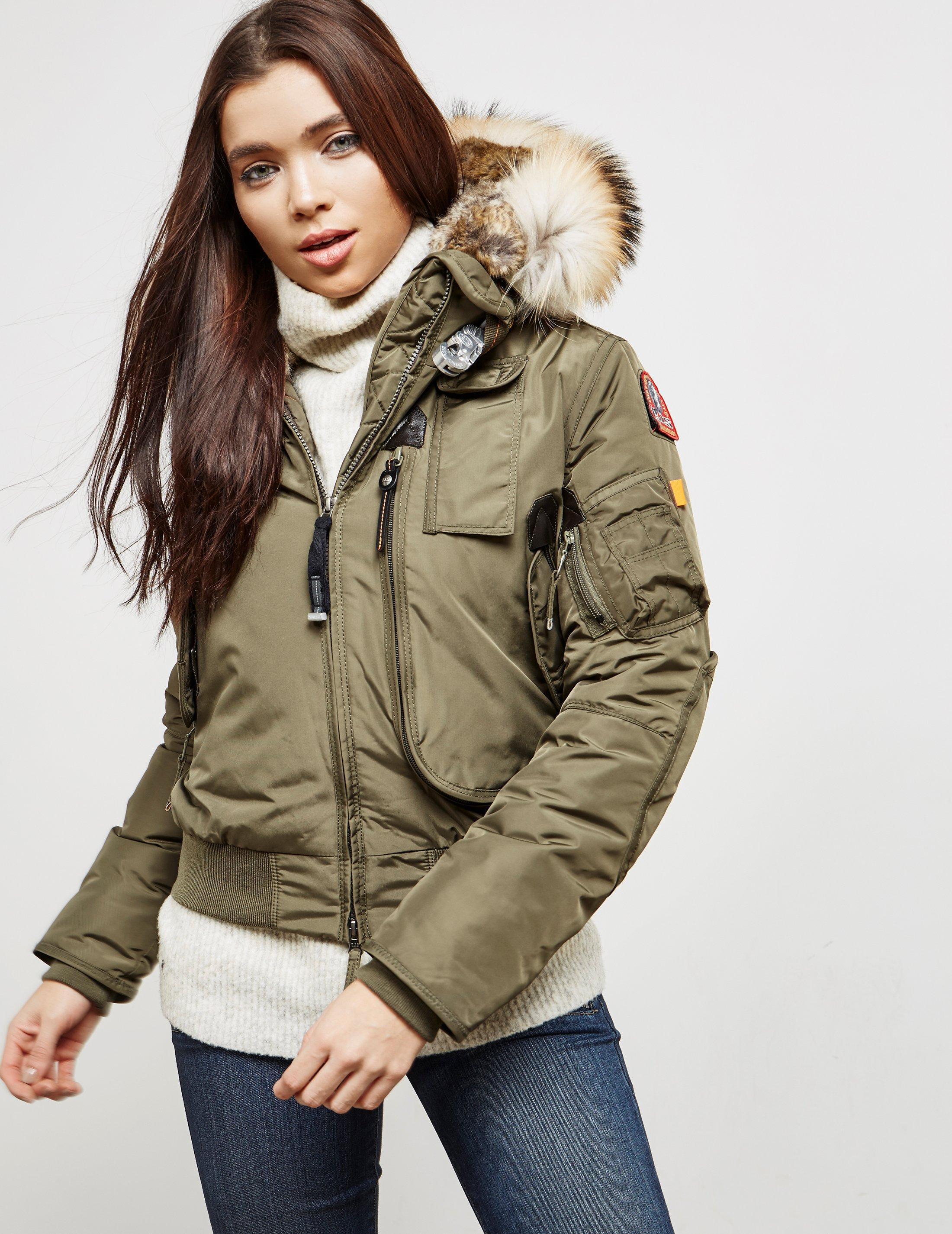 Parajumpers. Natural Womens Gobi Padded Bomber Jacket Khaki