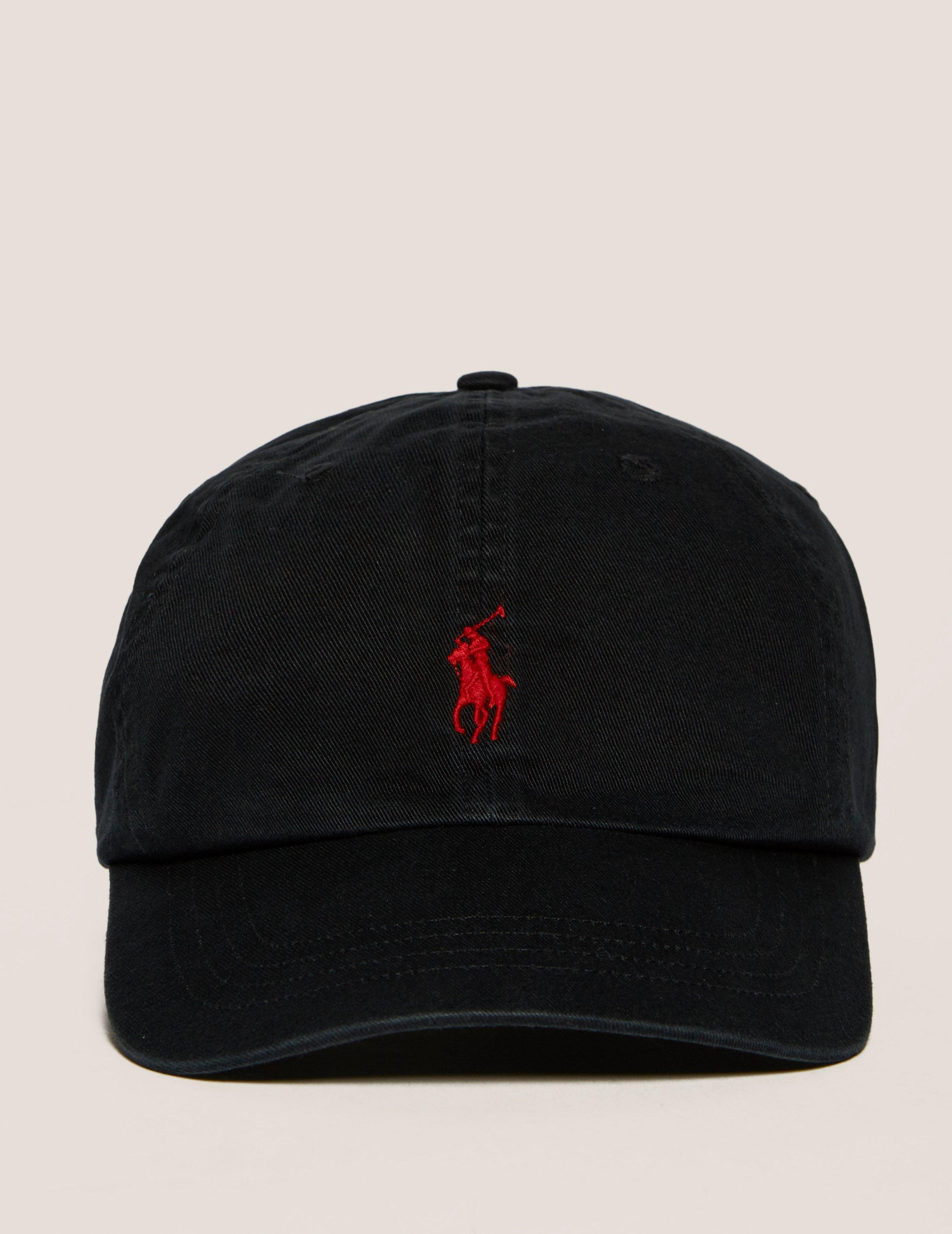 lyst polo ralph lauren classic sport cap in black for men. Black Bedroom Furniture Sets. Home Design Ideas