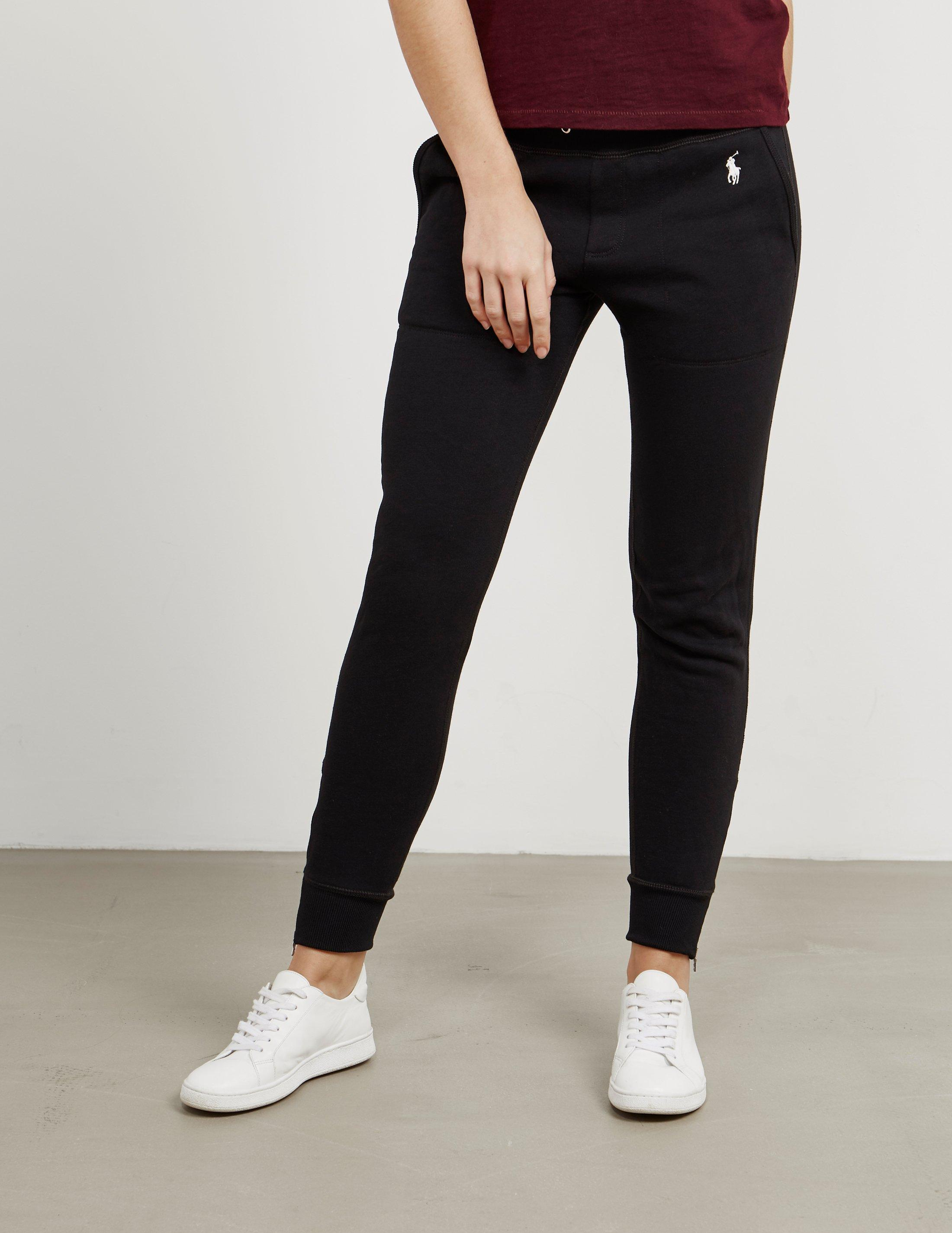 hoard as a rare commodity best selection of 2019 best shoes Polo Ralph Lauren Womens Fleece Cuffed Joggers Black - Lyst