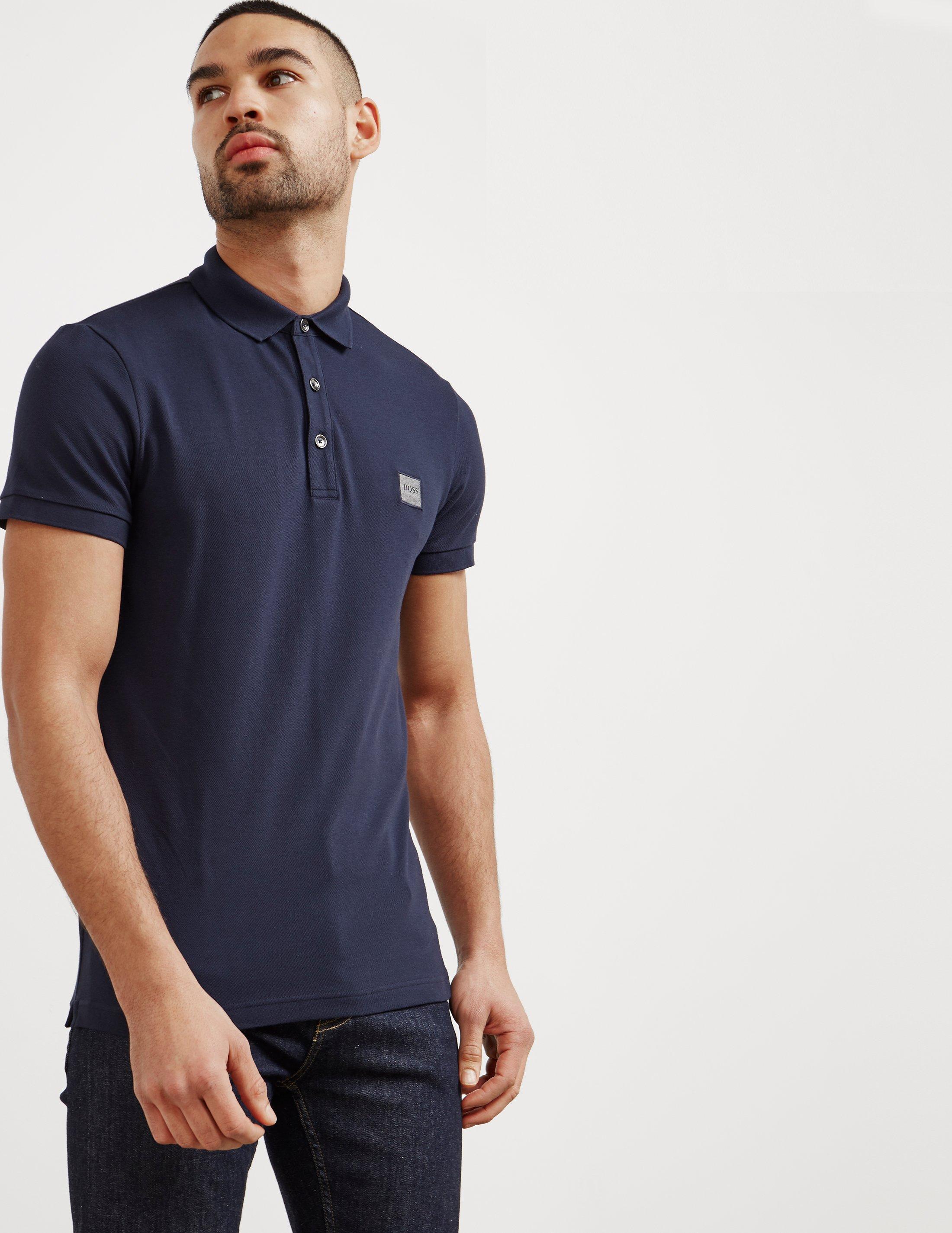 88d516a28 BOSS Passenger Short Sleeve Polo Shirt Navy Blue in Blue for Men - Lyst
