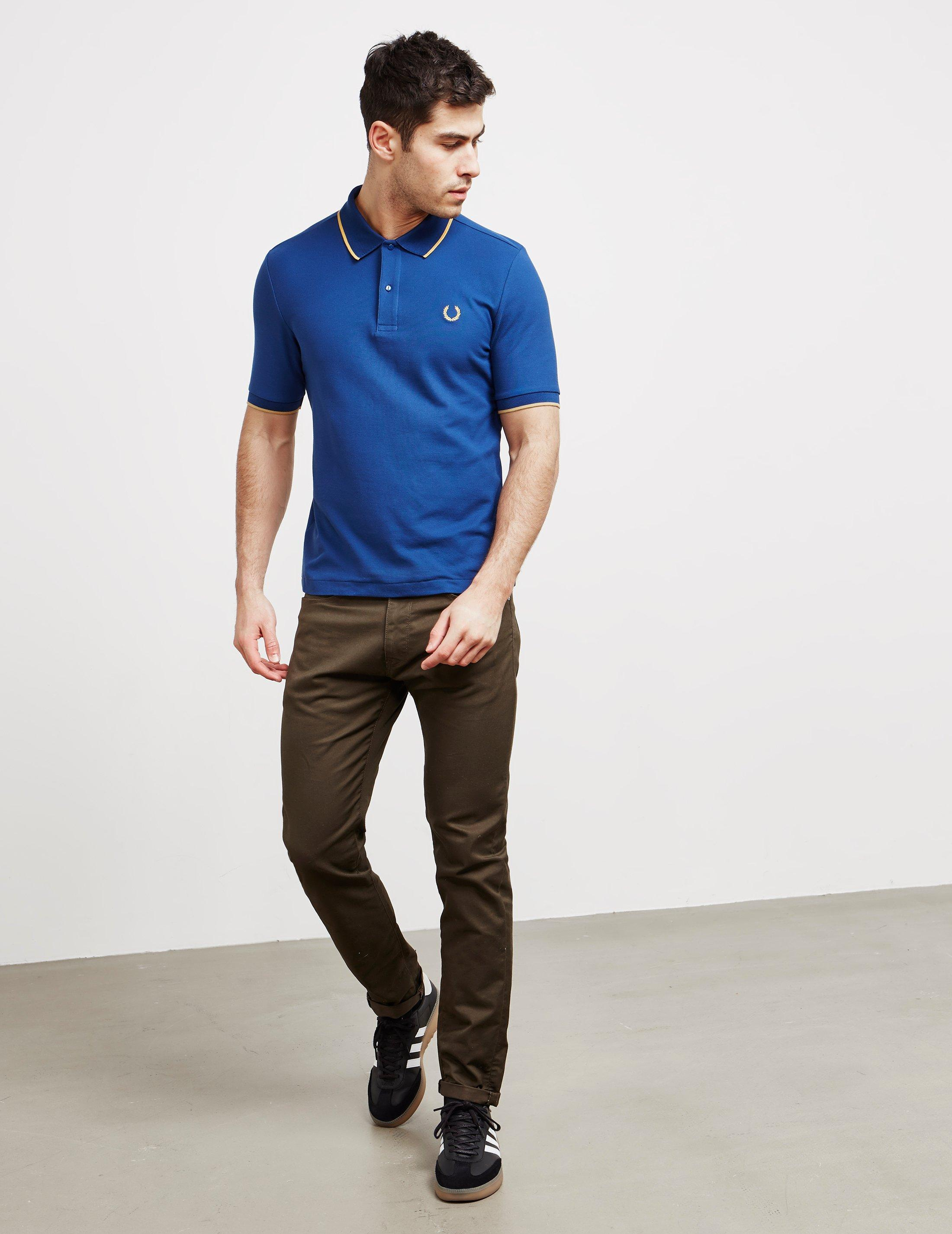 02b6deab1 Fred Perry X Miles Kane Short Sleeve Pique Polo Shirt Navy Blue in Blue for  Men - Lyst