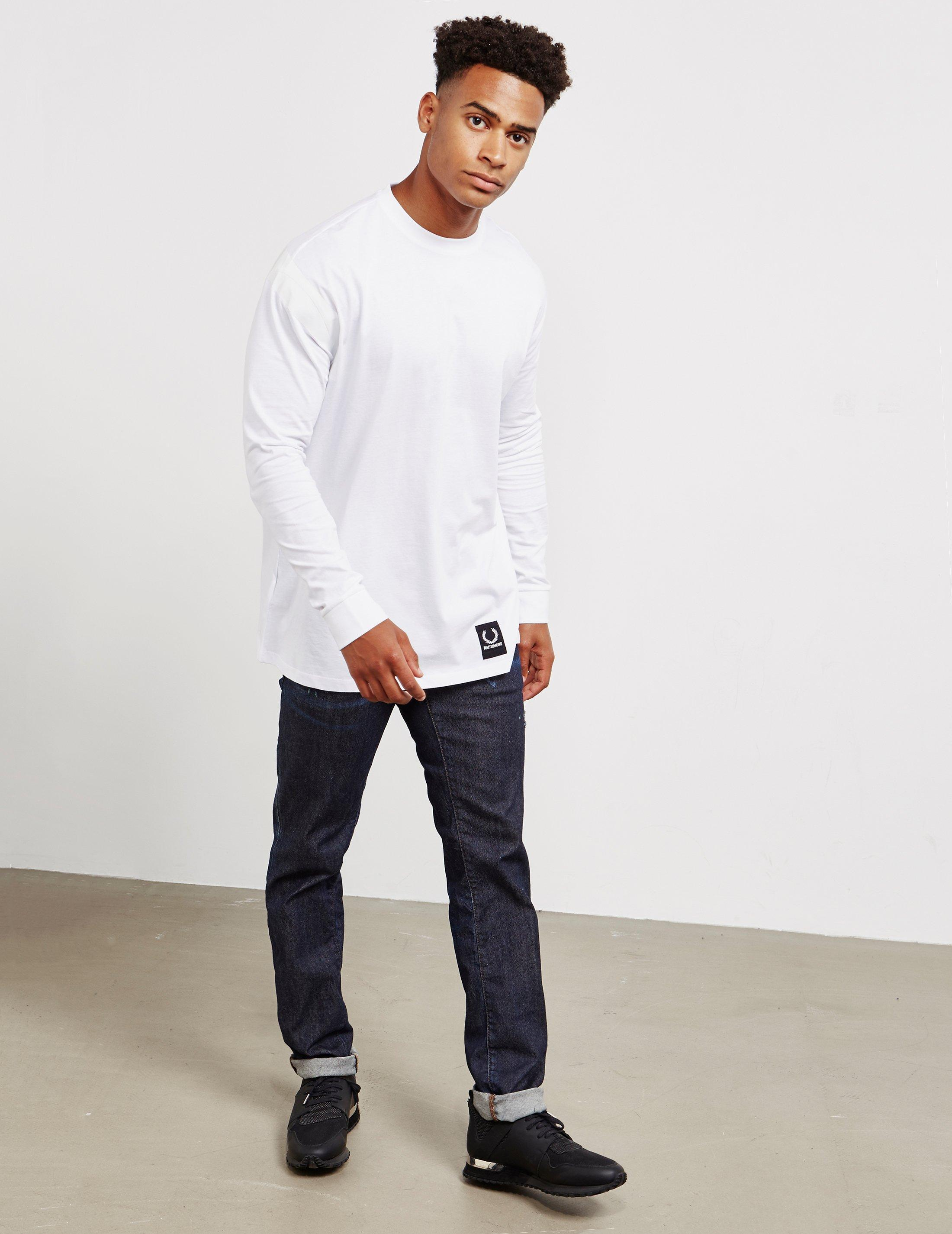 25326353 Lyst - Fred Perry X Raf Simons Tape Detail Long Sleeve T-shirt in White for  Men - Save 40%