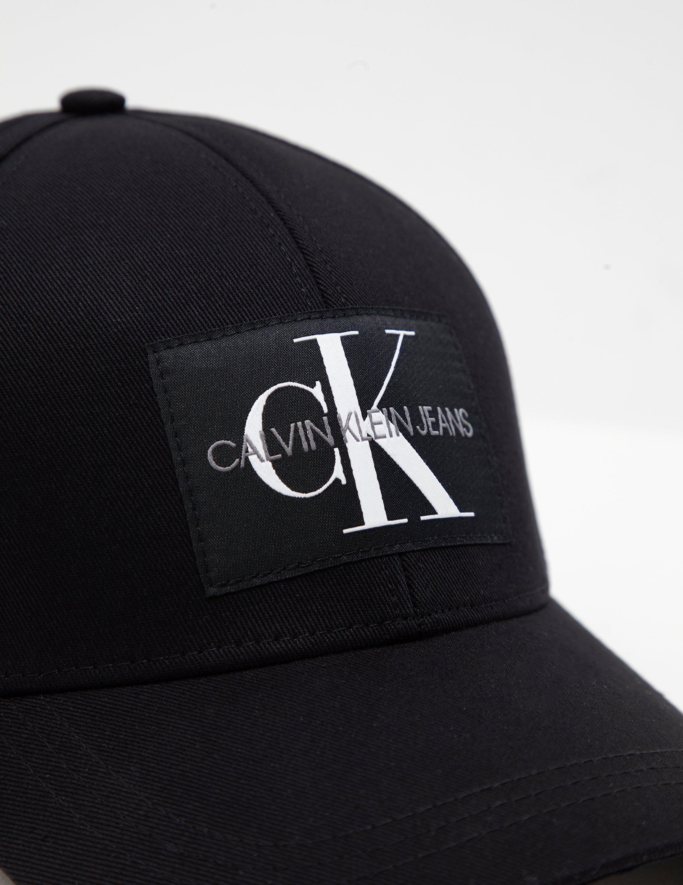 ae8aa5ee69e Calvin Klein Patch Logo Cap Black in Black for Men - Lyst