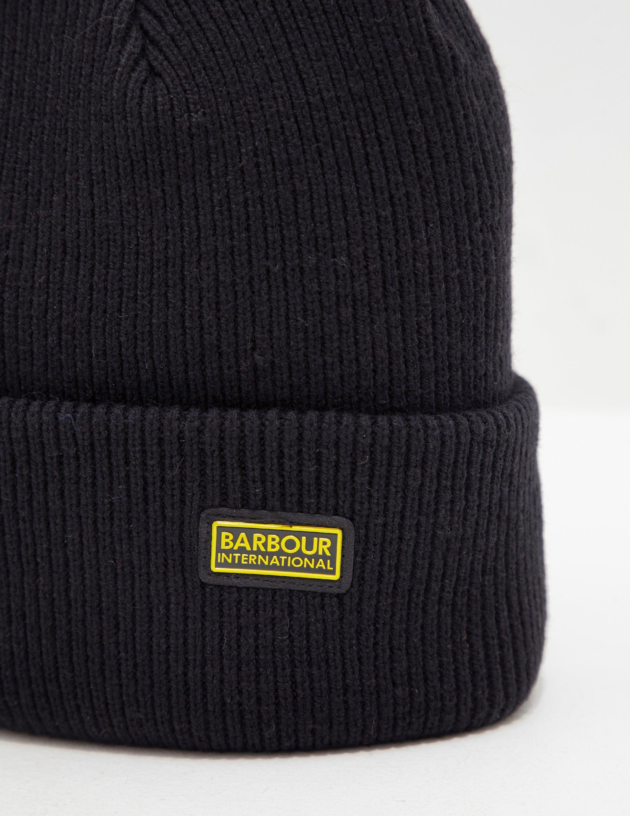 4f913c2419e Barbour International Beanie - Exclusively To Tessuti Black in Black for Men  - Lyst