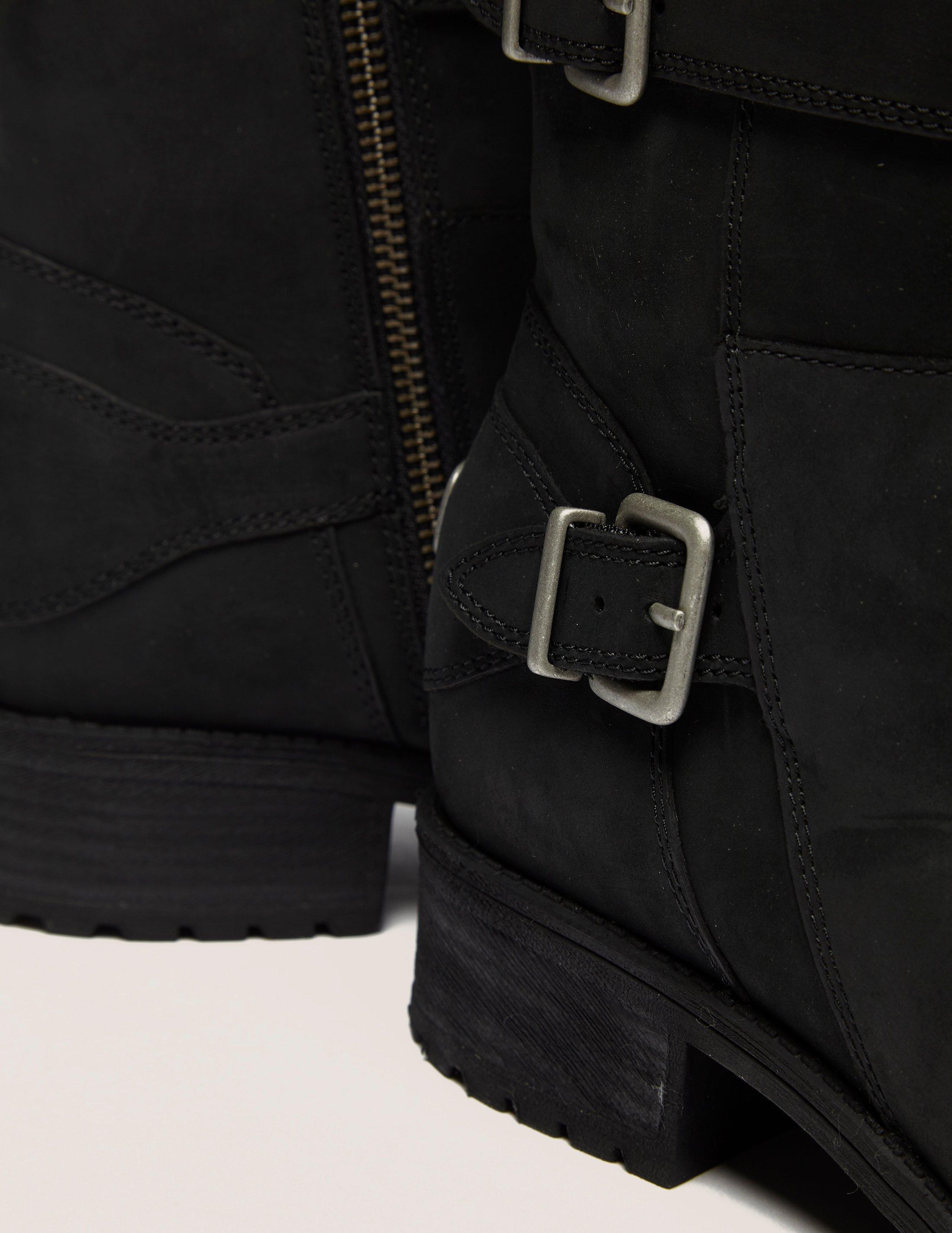 6201e567729 UGG Womens Wilcox Biker Boot Black in Black - Lyst