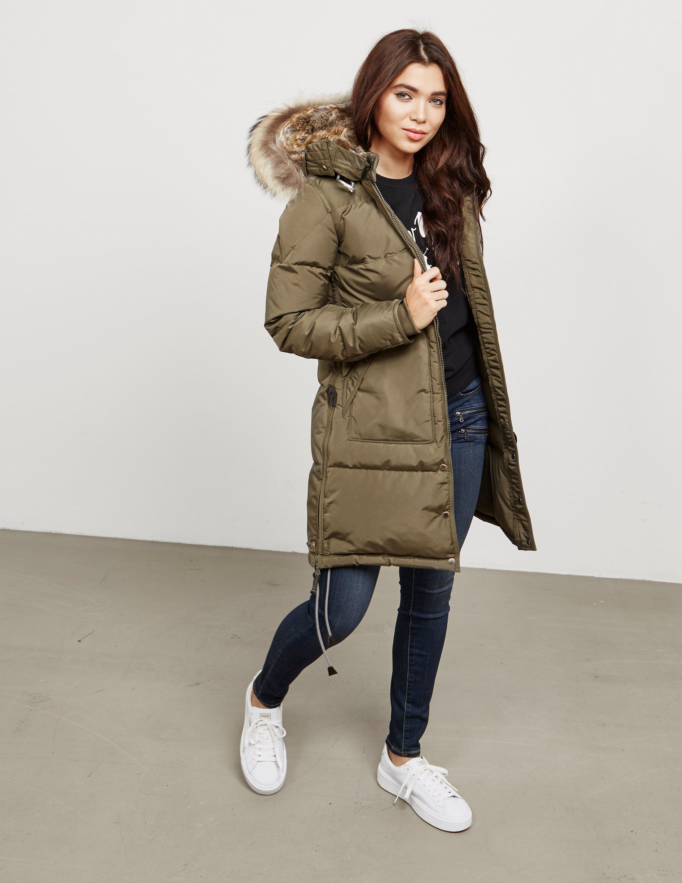 Parajumpers. Womens Long Bear Padded Jacket Green