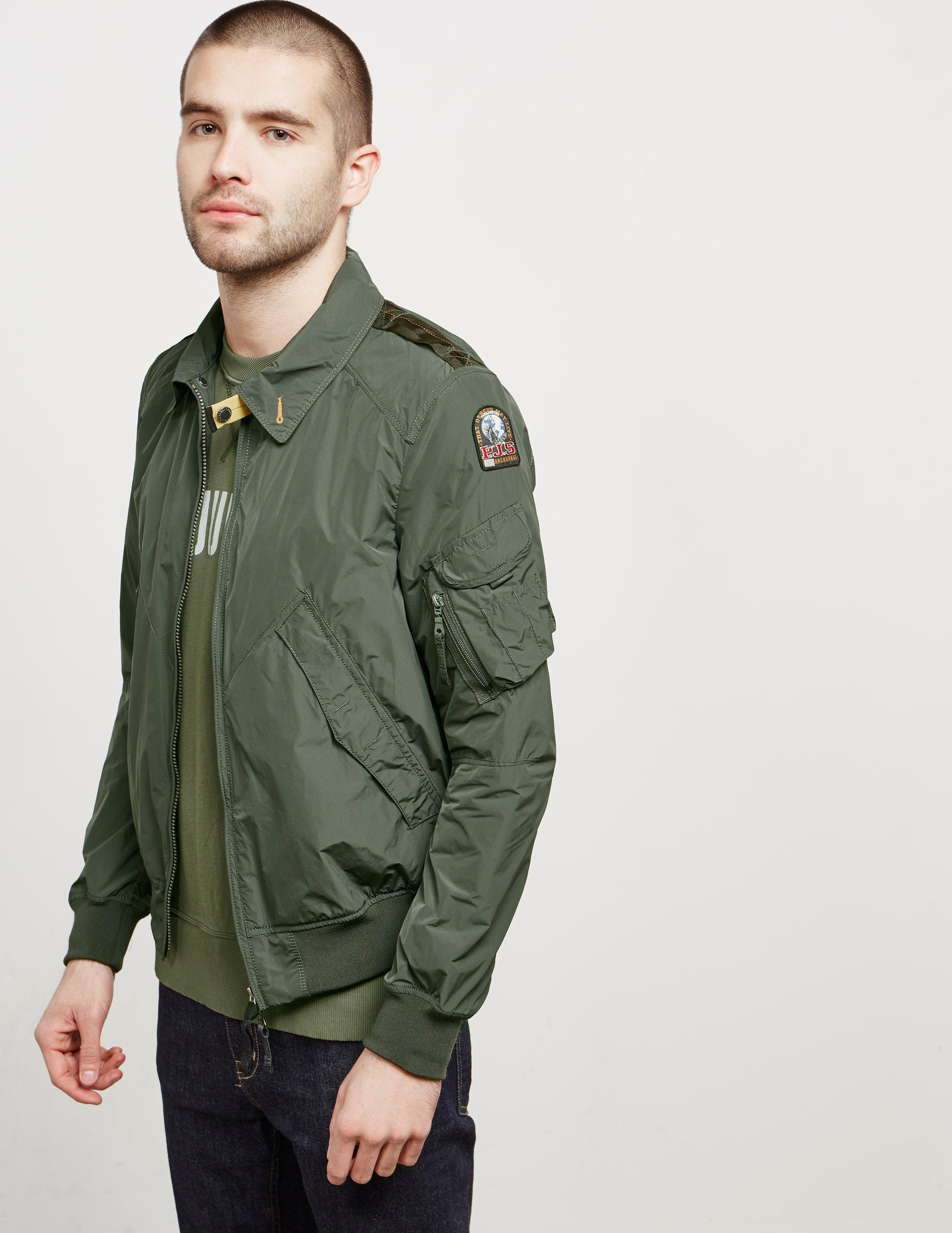 Parajumpers. Mens Brigadier Bomber Jacket Green