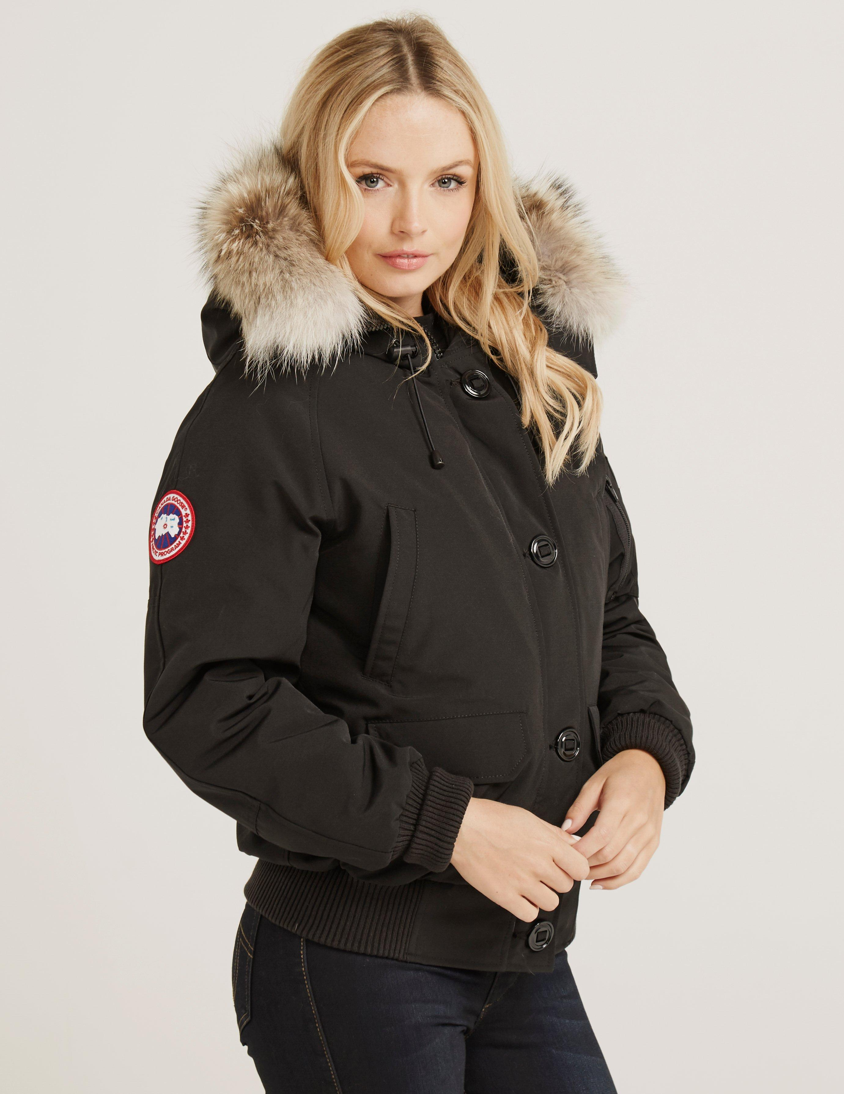 Canada Goose. Womens Chilliwack Padded Bomber Jacket Black
