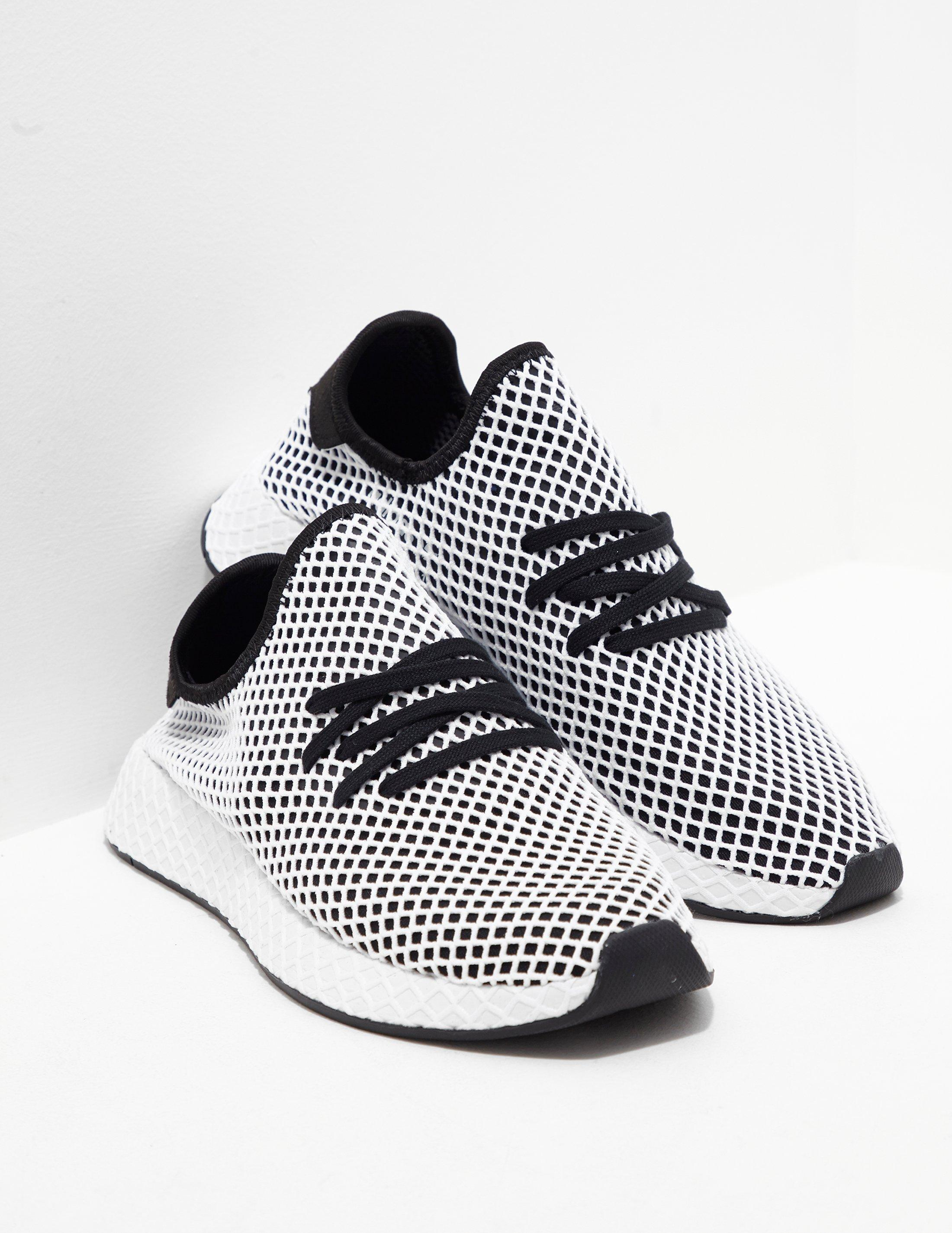 847b27bcb official store adidas originals mens deerupt black white in black for men  lyst 4836d 48b40