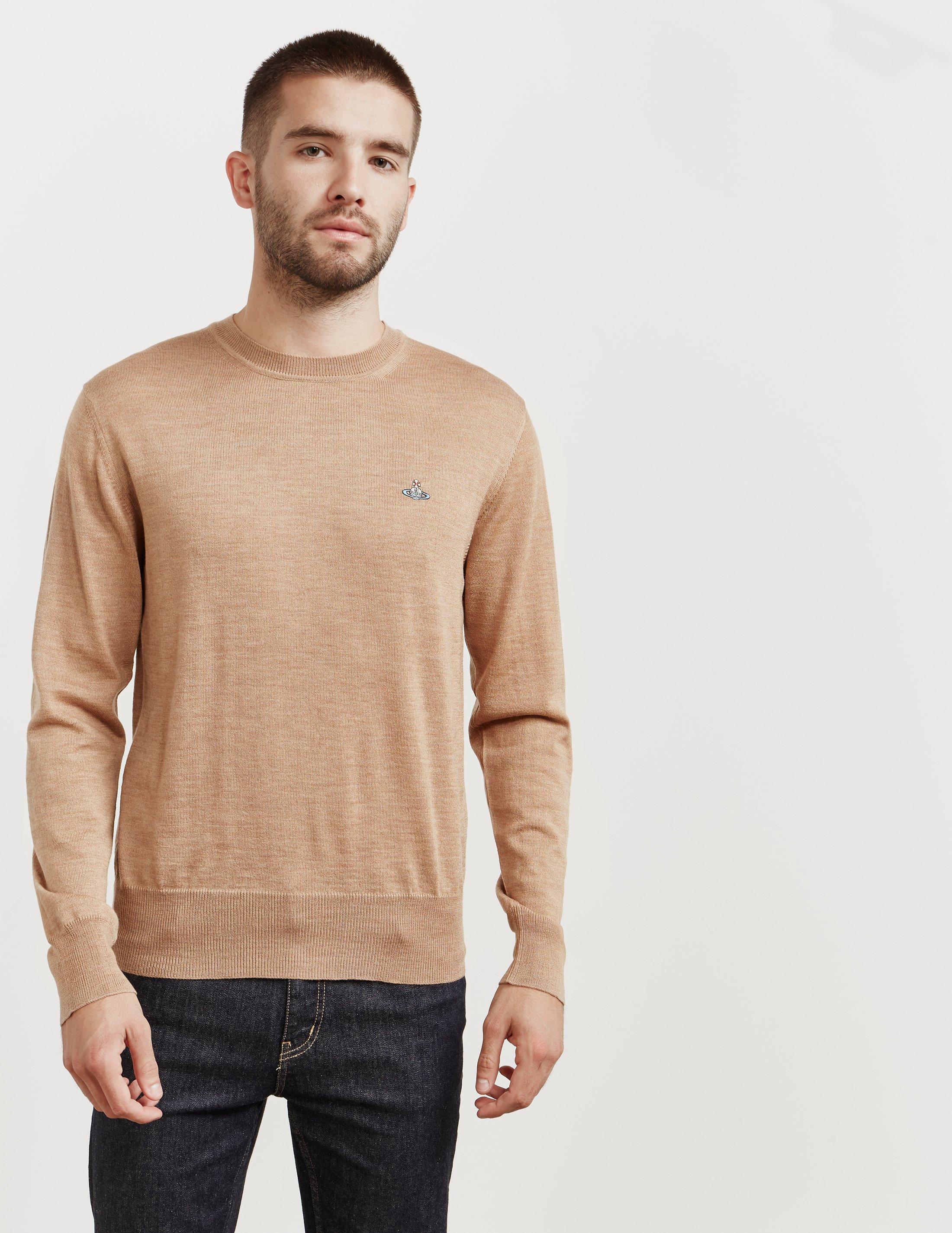 f5bde178afaad Vivienne Westwood Mens Crew Neck Knitted Jumper Brown in Brown for ...
