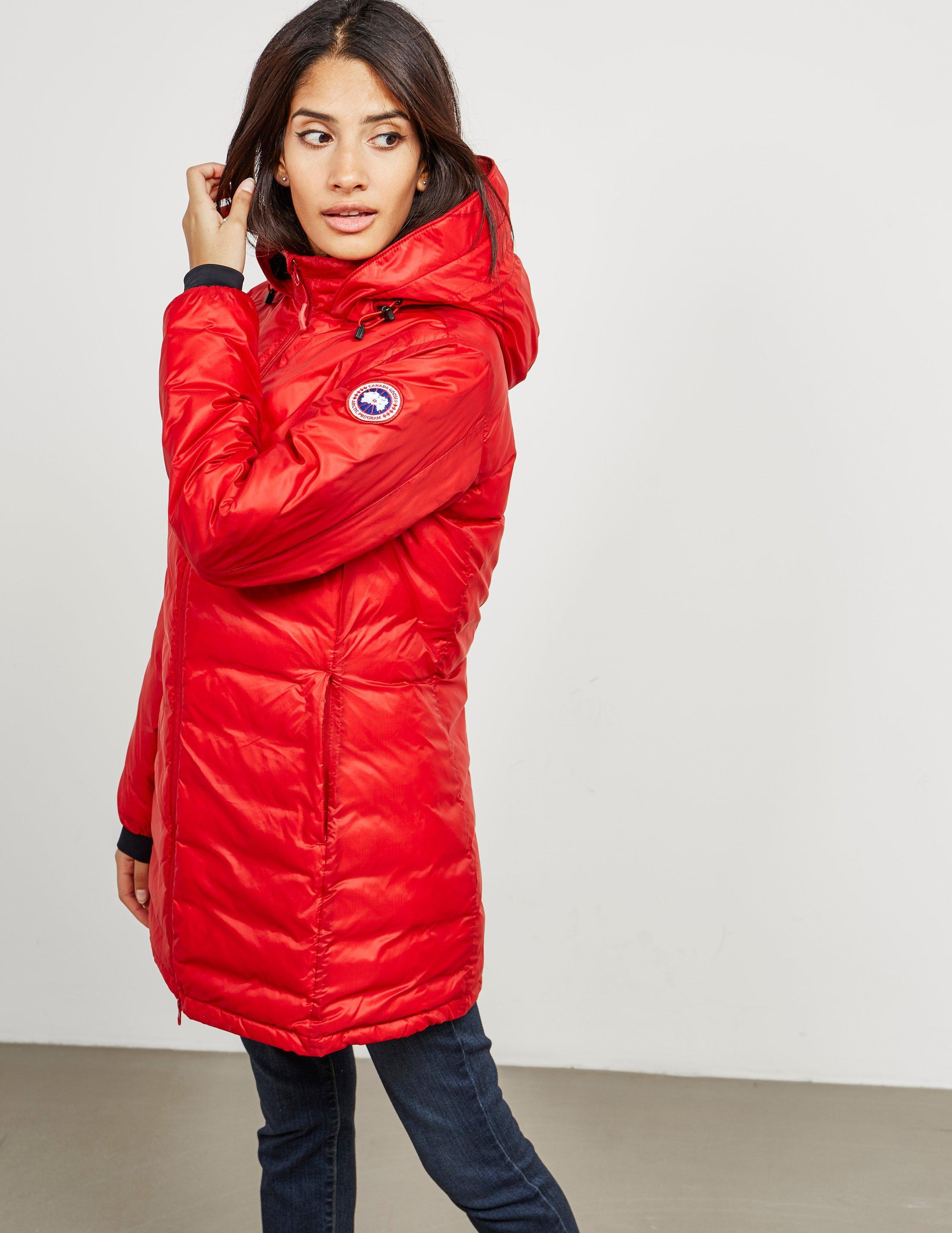 a7aed5272 Canada Goose Womens Camp Hooded Padded Jacket - Online Exclusive Red ...