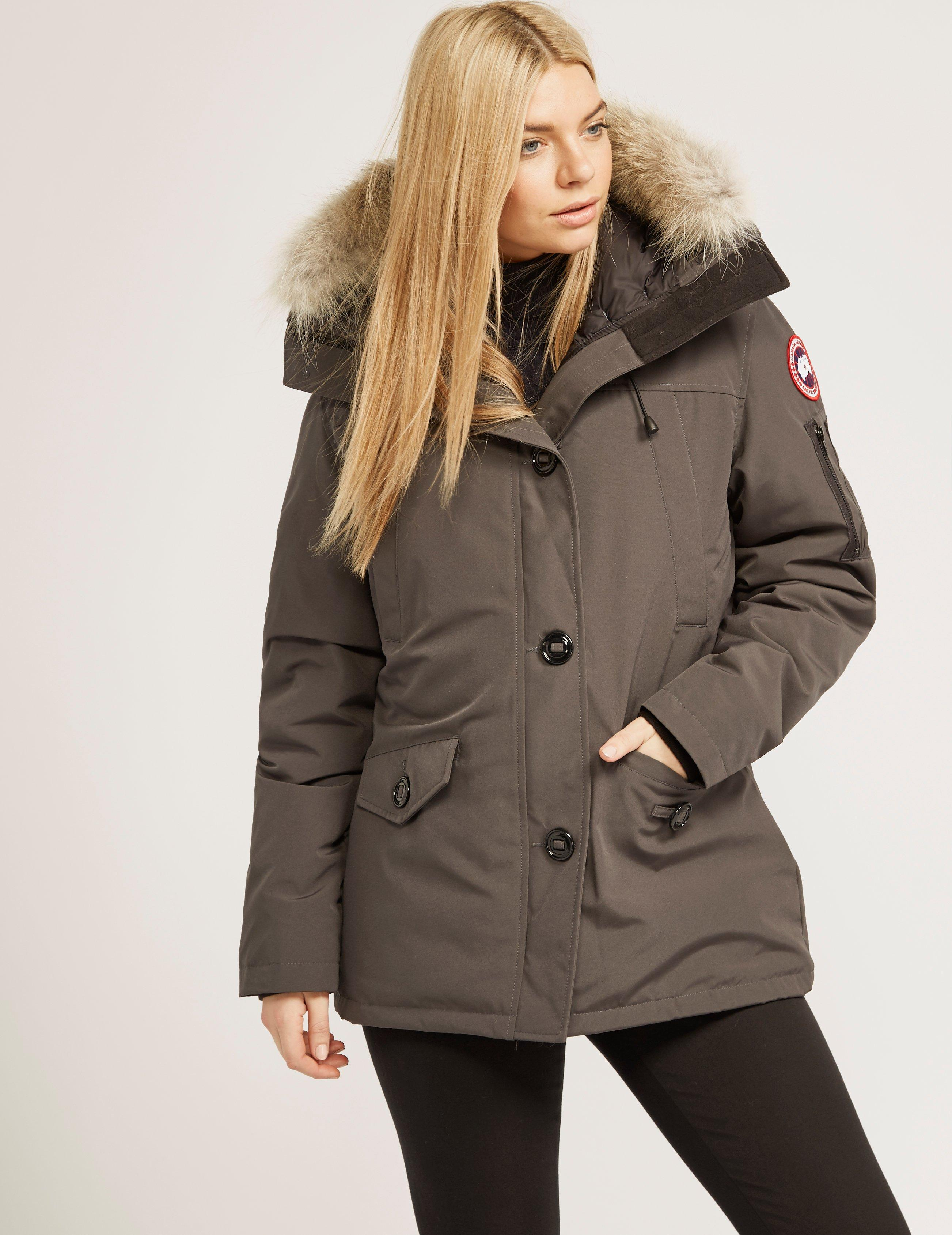 cf964dfd8b4c Canada Goose Womens Montebello Padded Parka Jacket Grey in Gray - Lyst