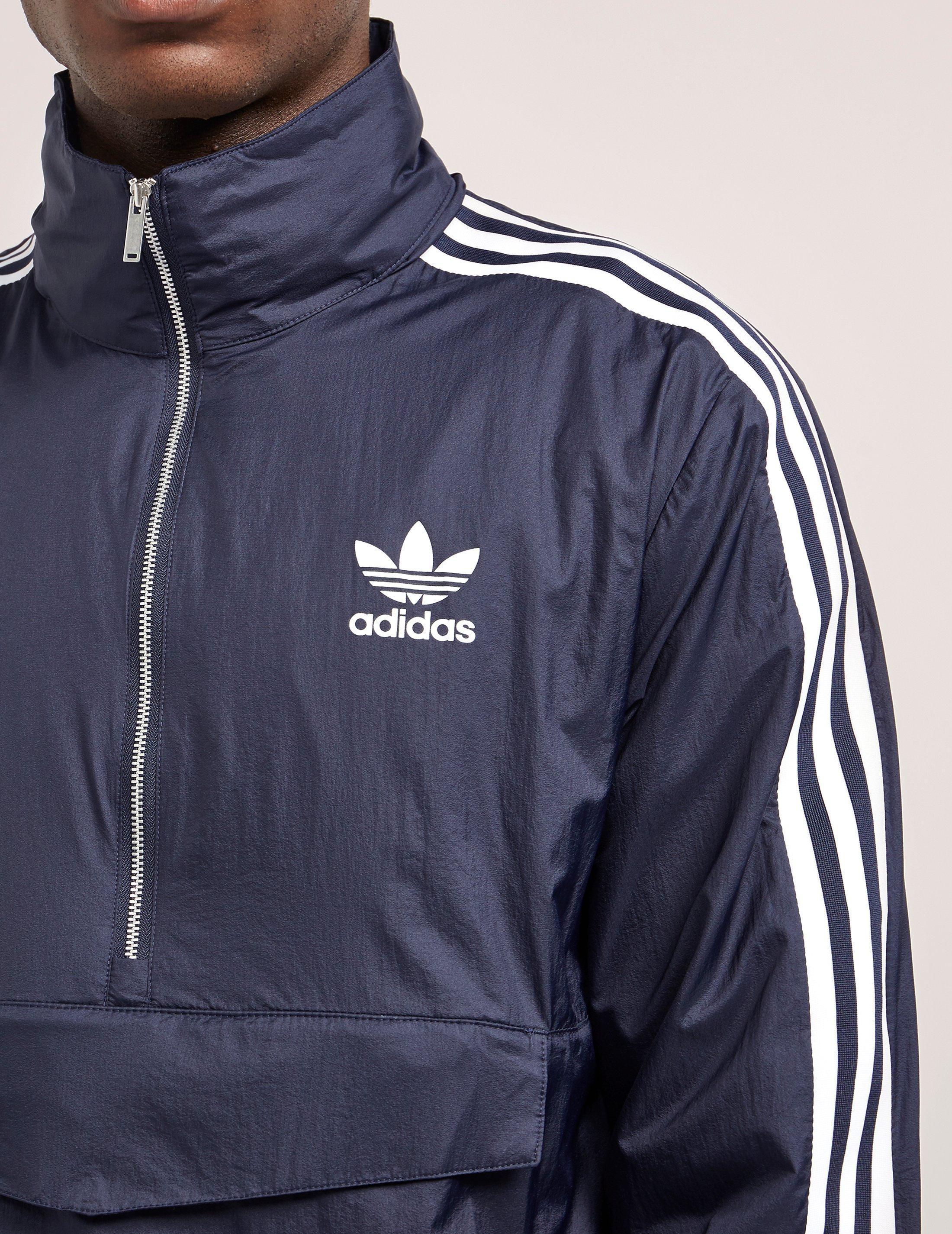 adidas Originals Mens London Half Zip Lightweight Jacket