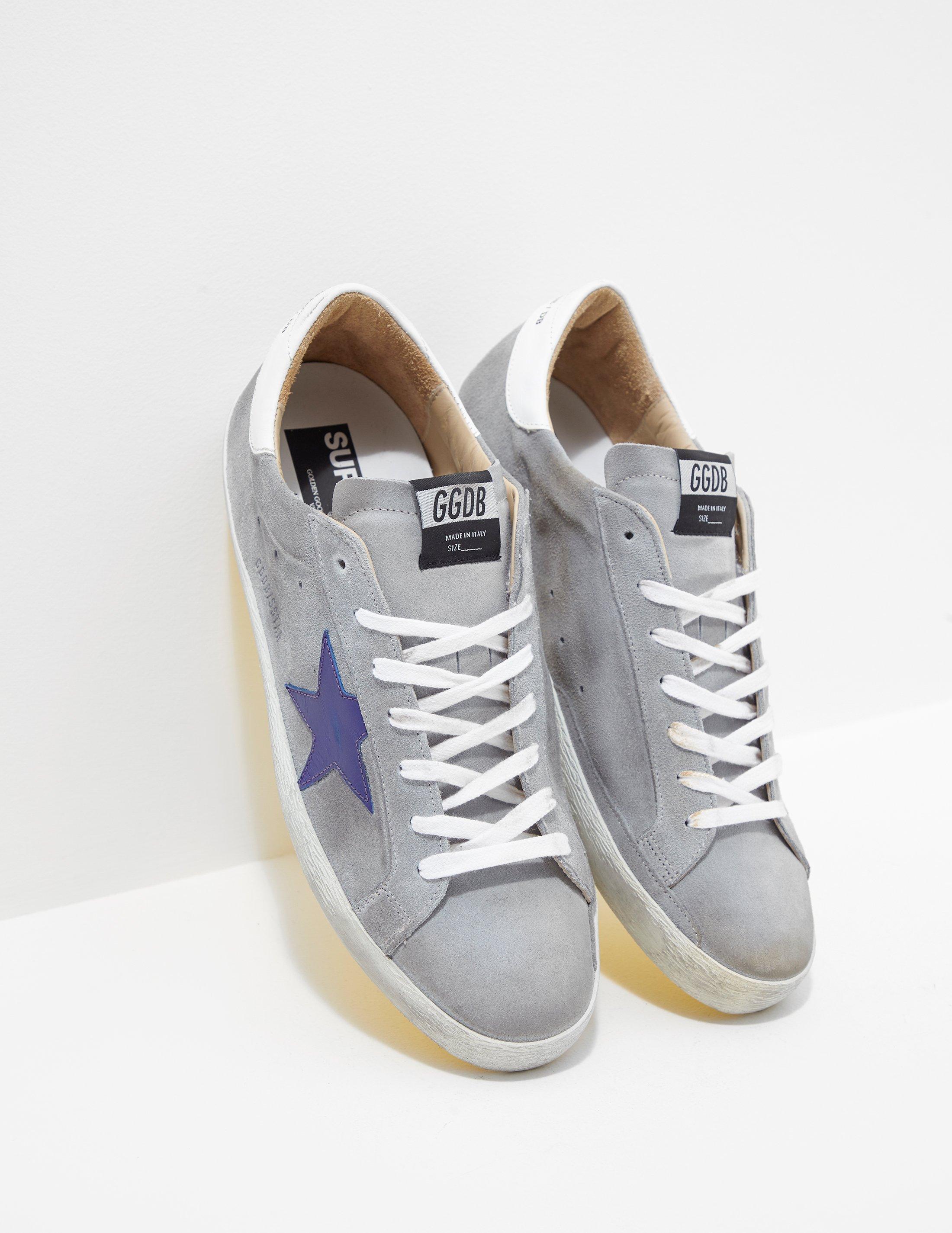 22231def1478 Lyst - Golden Goose Deluxe Brand Mens Superstar Sneakers Blue in ...