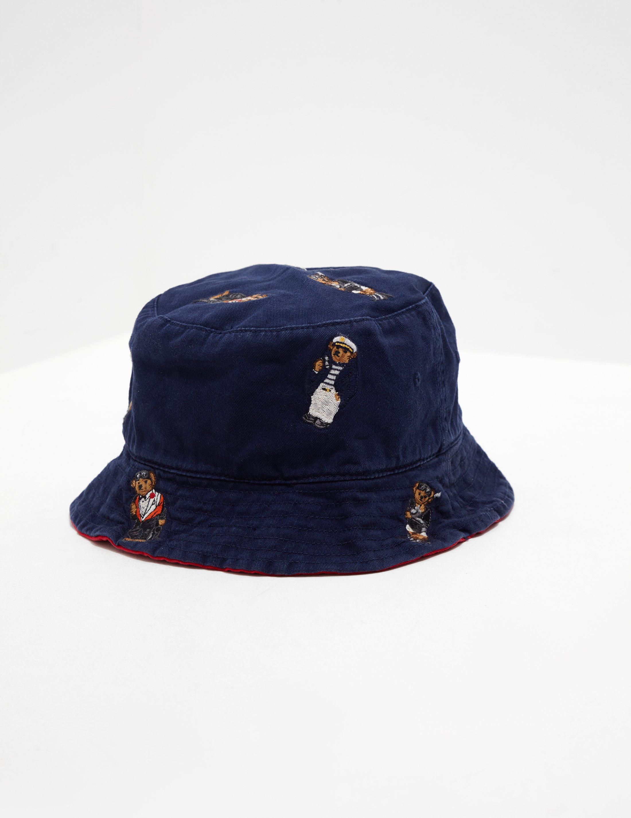 01680ecf8 Polo Ralph Lauren Mens Bear Bucket Hat - Online Exclusive Navy Blue ...