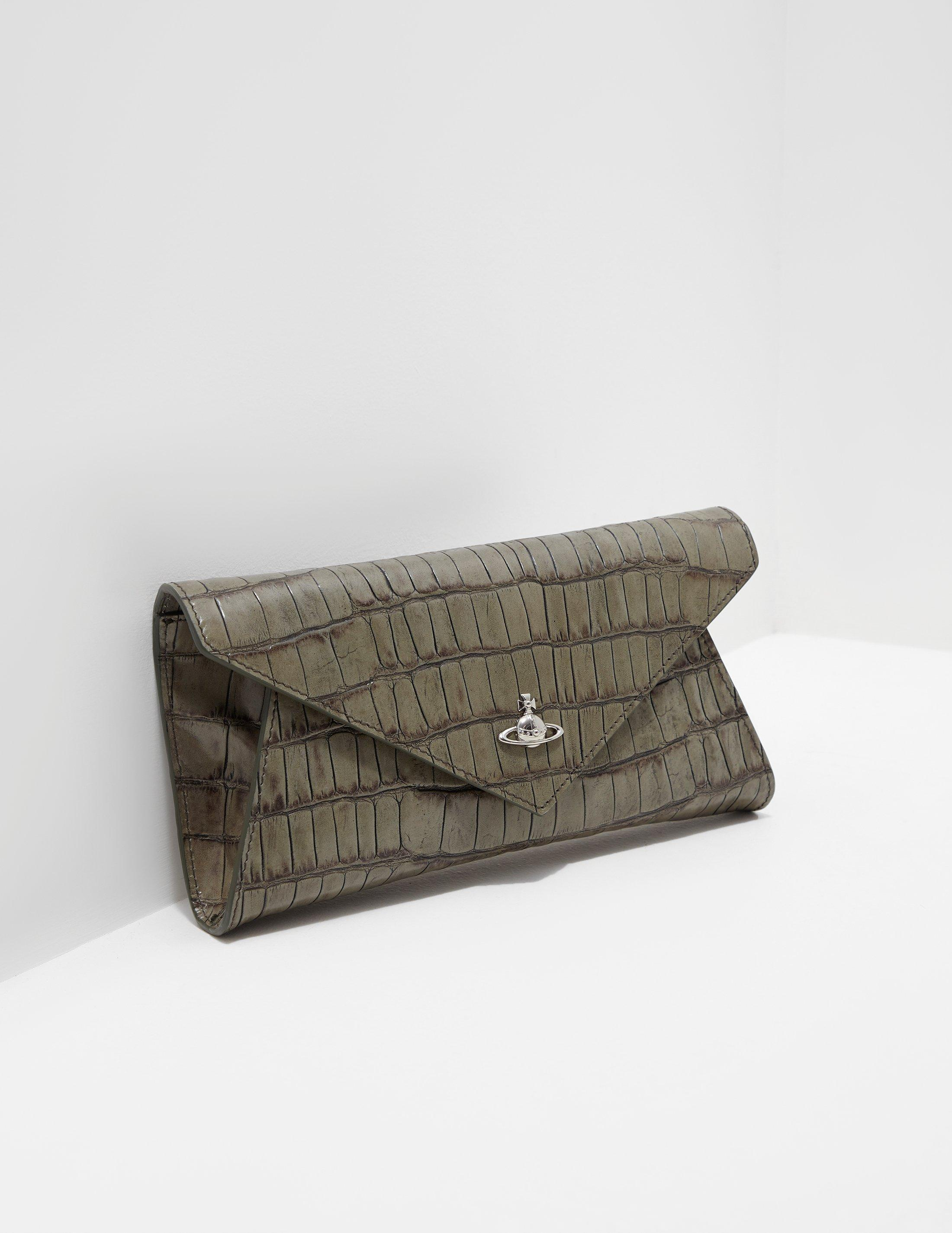 4b1fec60c79 Vivienne Westwood Womens Lisa Croc Envelope Clutch Bag - Online ...