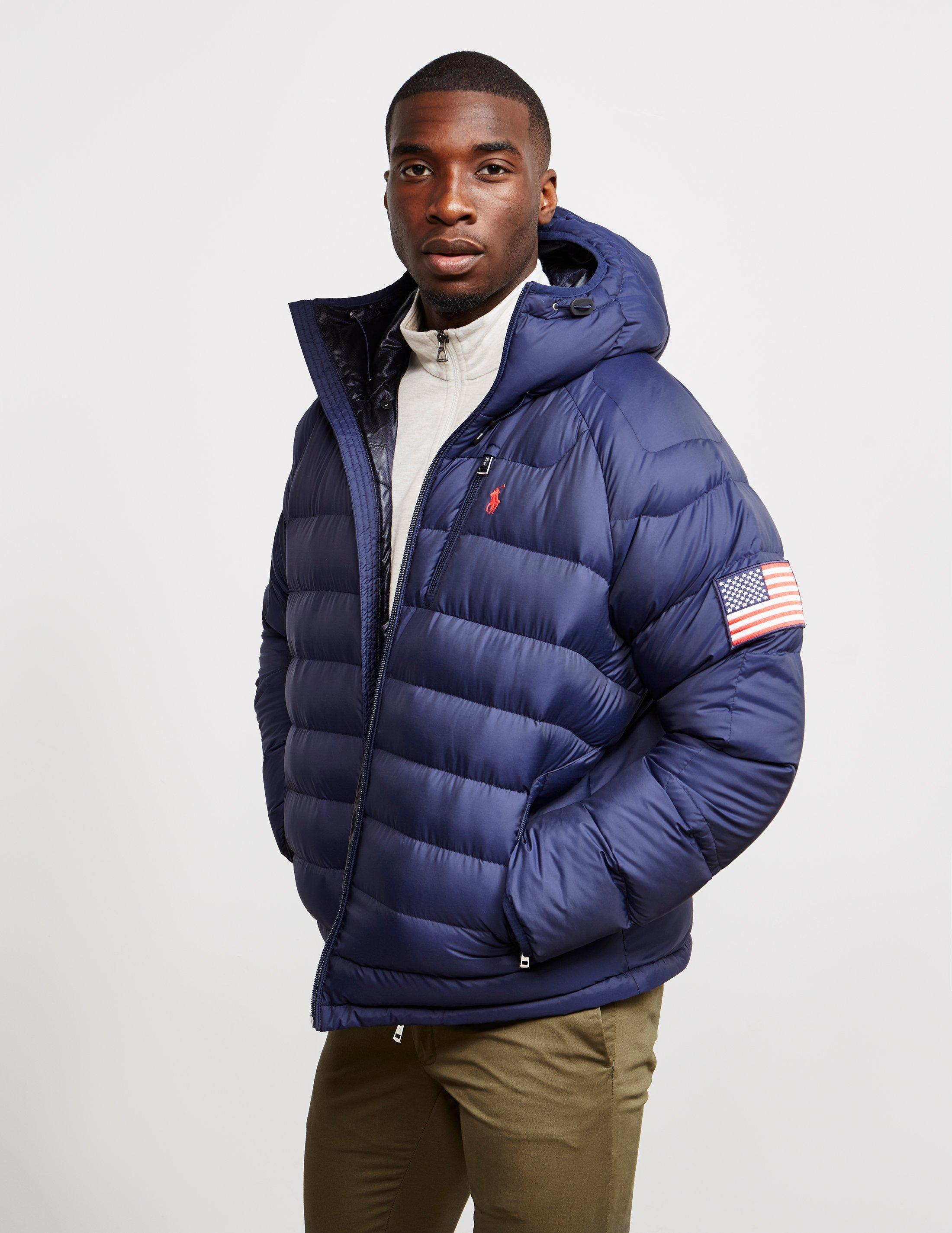 998cbe380cba Lyst - Polo Ralph Lauren Glacier Heated Down Jacket Navy Blue in ...