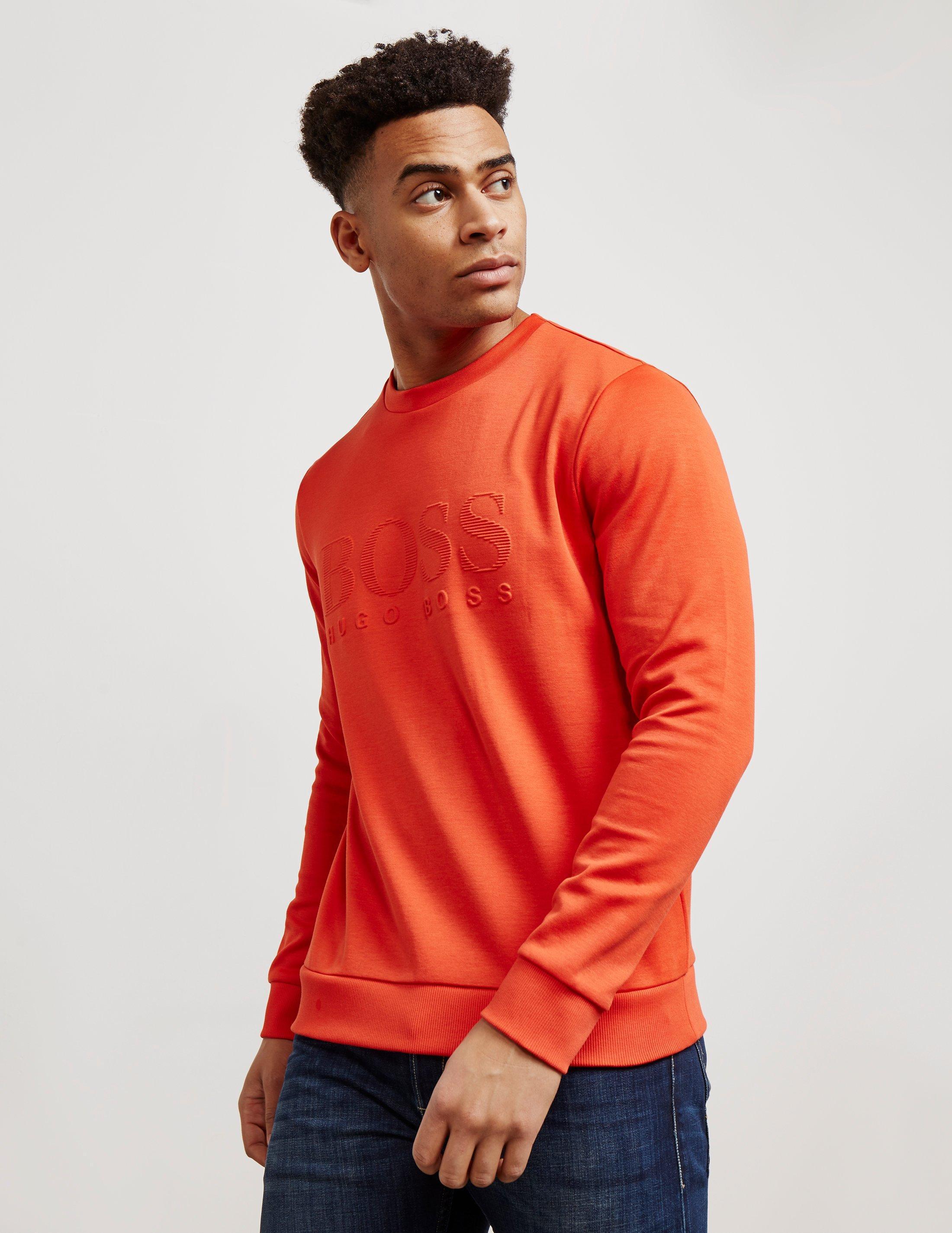 f1205346b Lyst - BOSS Mens Salbo Sweatshirt Orange in Orange for Men