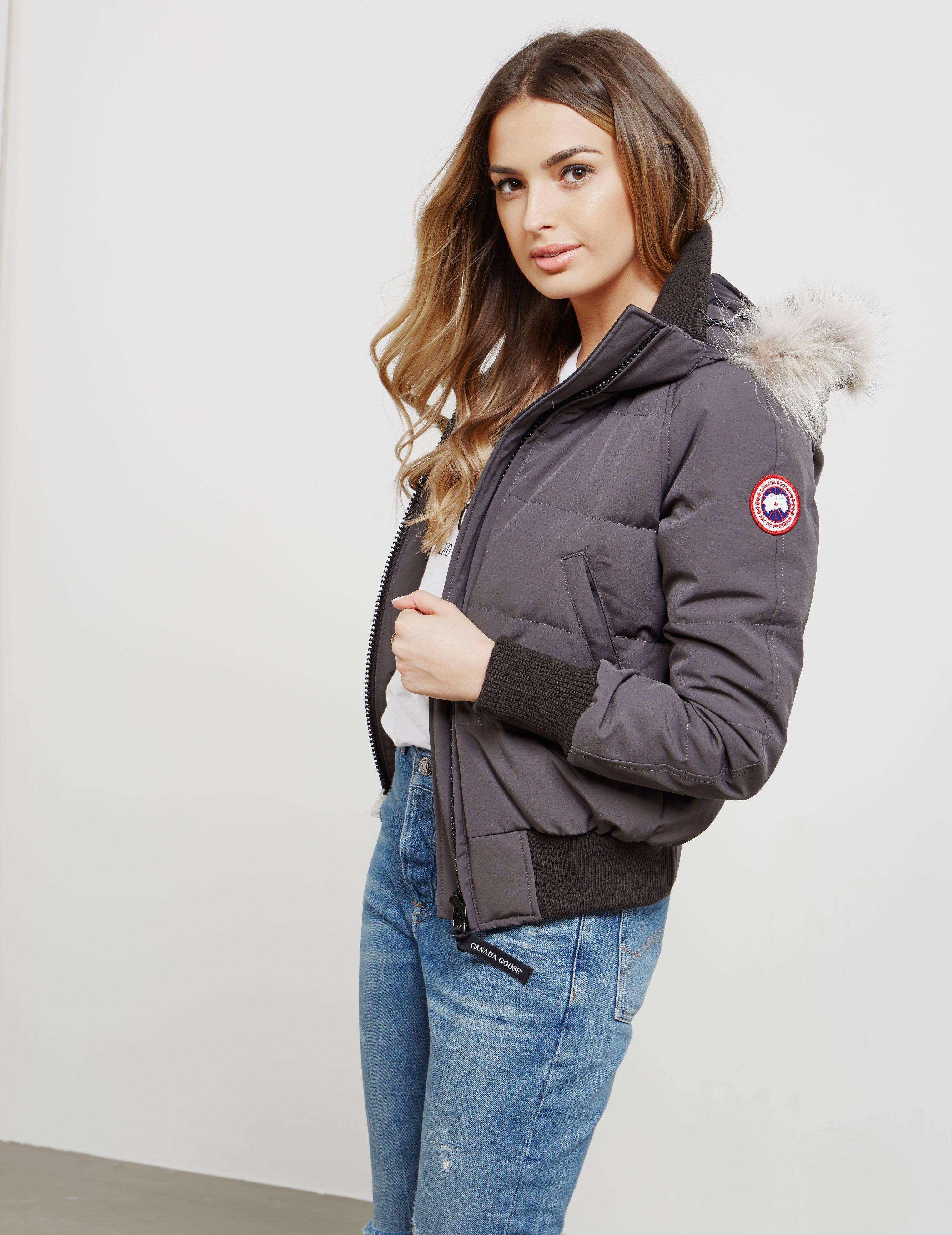 c856ddc1d15 Canada Goose Womens Savona Padded Bomber Jacket Grey in Gray - Lyst