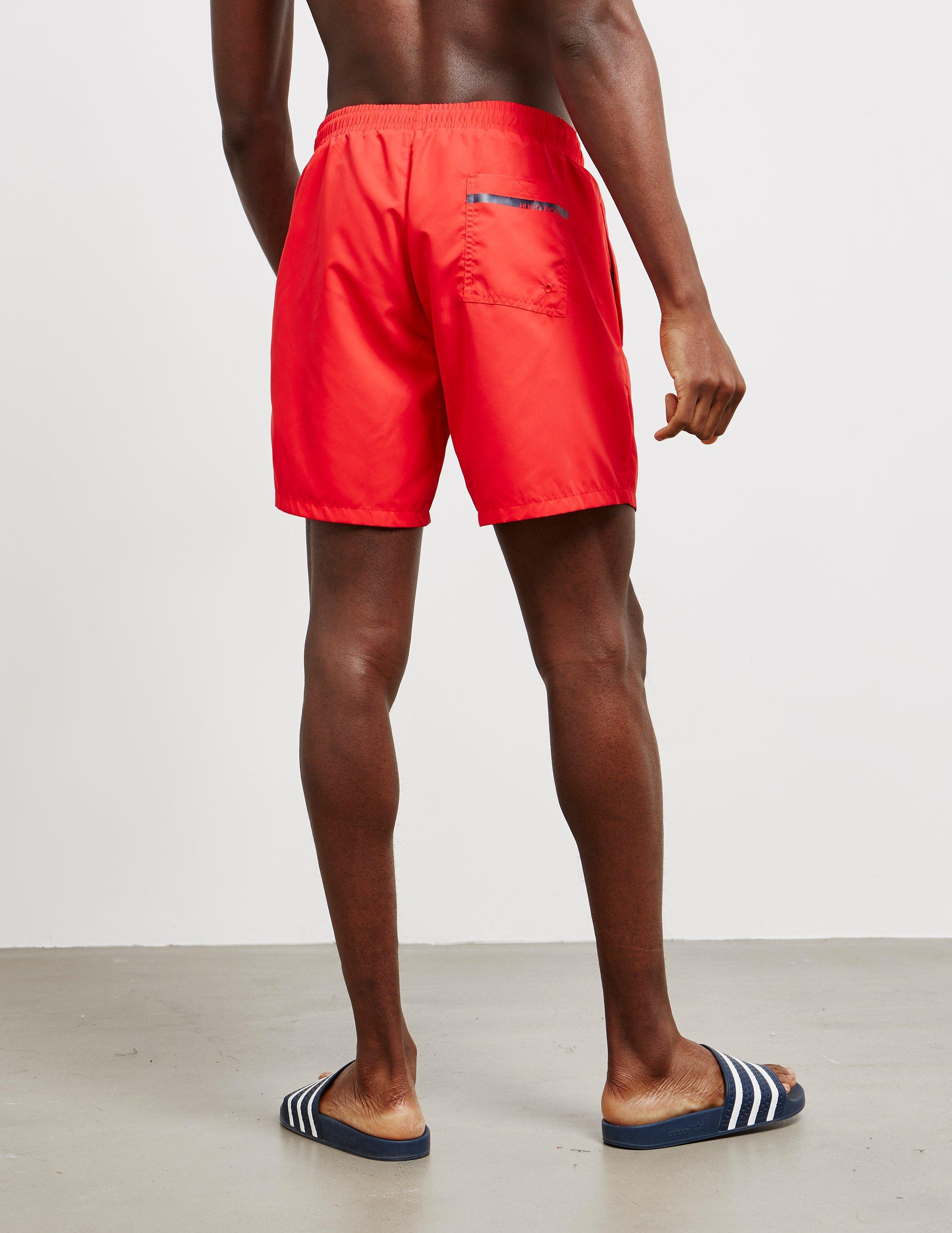 812b742140e82 BOSS Dolphin Swim Shorts Red in Red for Men - Lyst