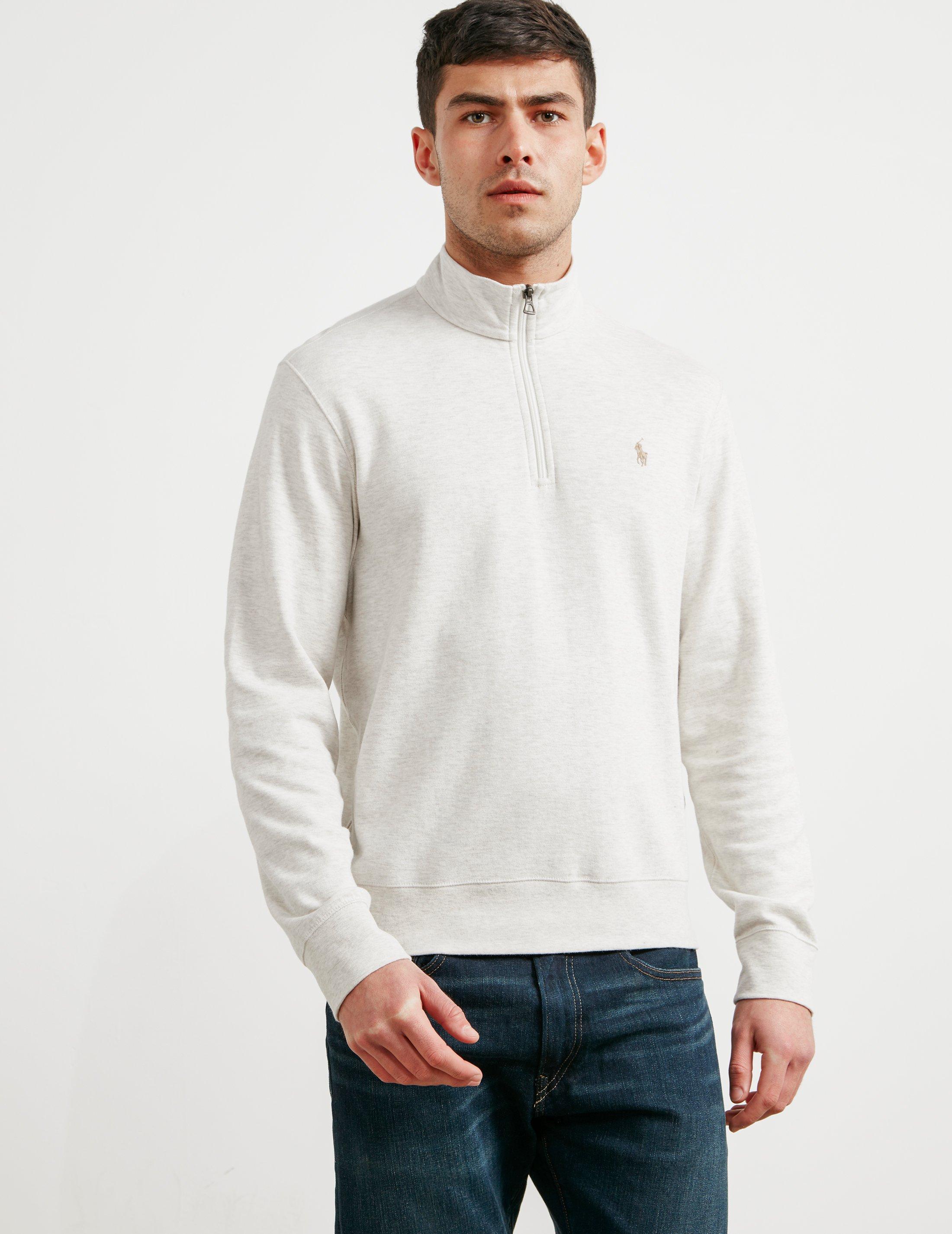 048c941556ba09 Polo Ralph Lauren Mens Pima Cotton Half Zip Sweatshirt Sand/sand in ...