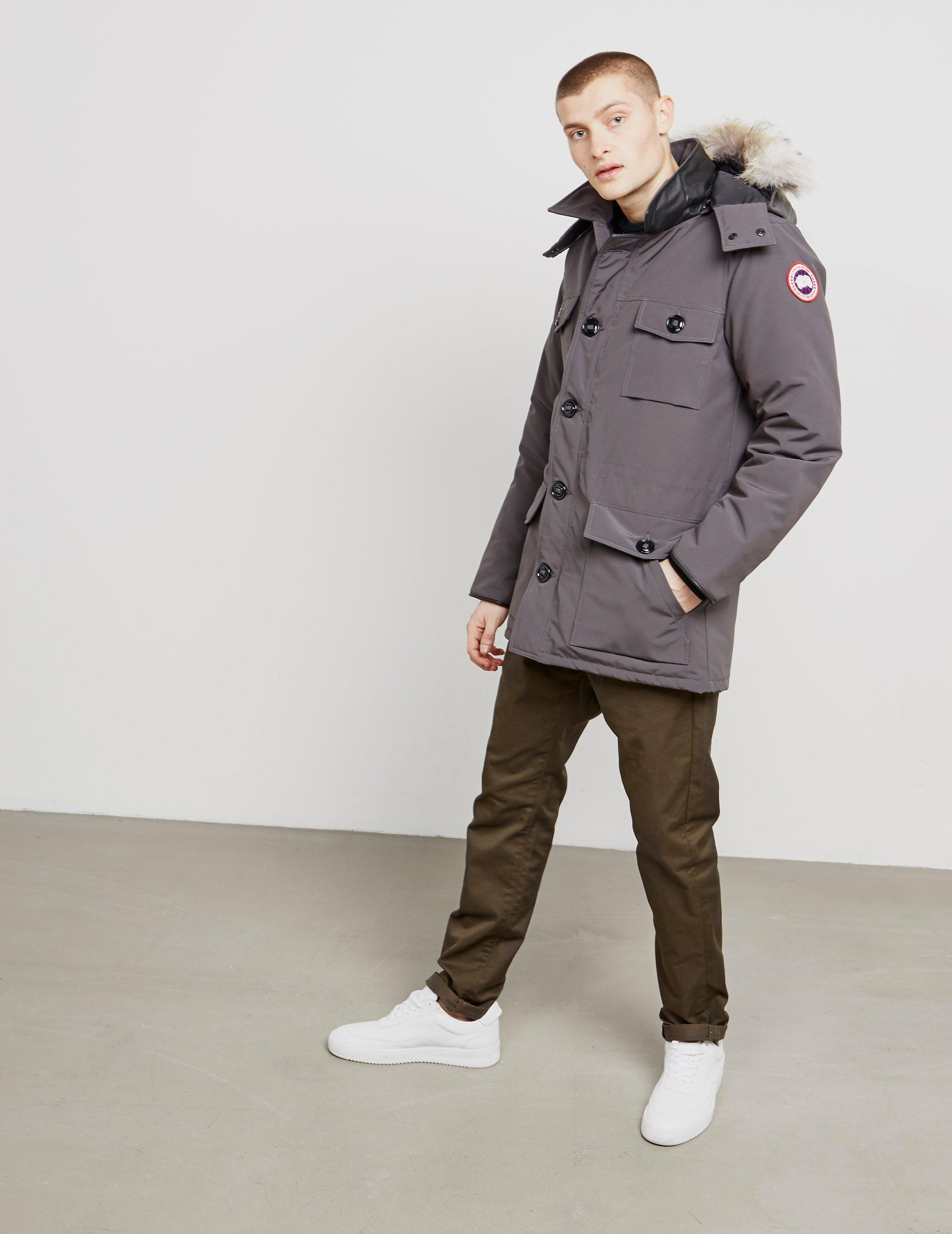 711fec09bc26 ... cheap lyst canada goose mens banff padded parka jacket grey in gray for  4d0fc a7d6e