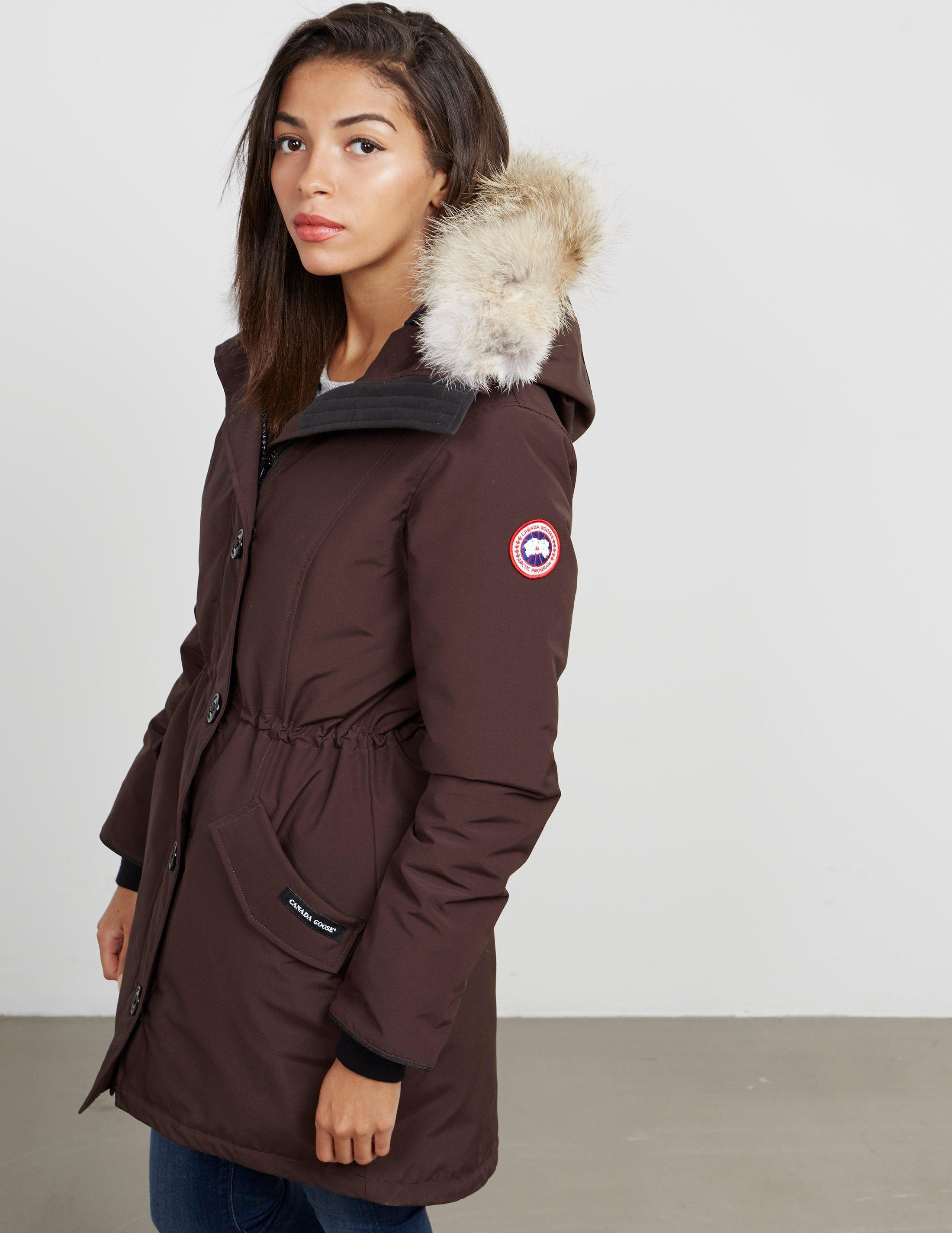 37d5b8a09550 Canada Goose Womens Rossclair Padded Parka Jacket Brown, Brown in ...