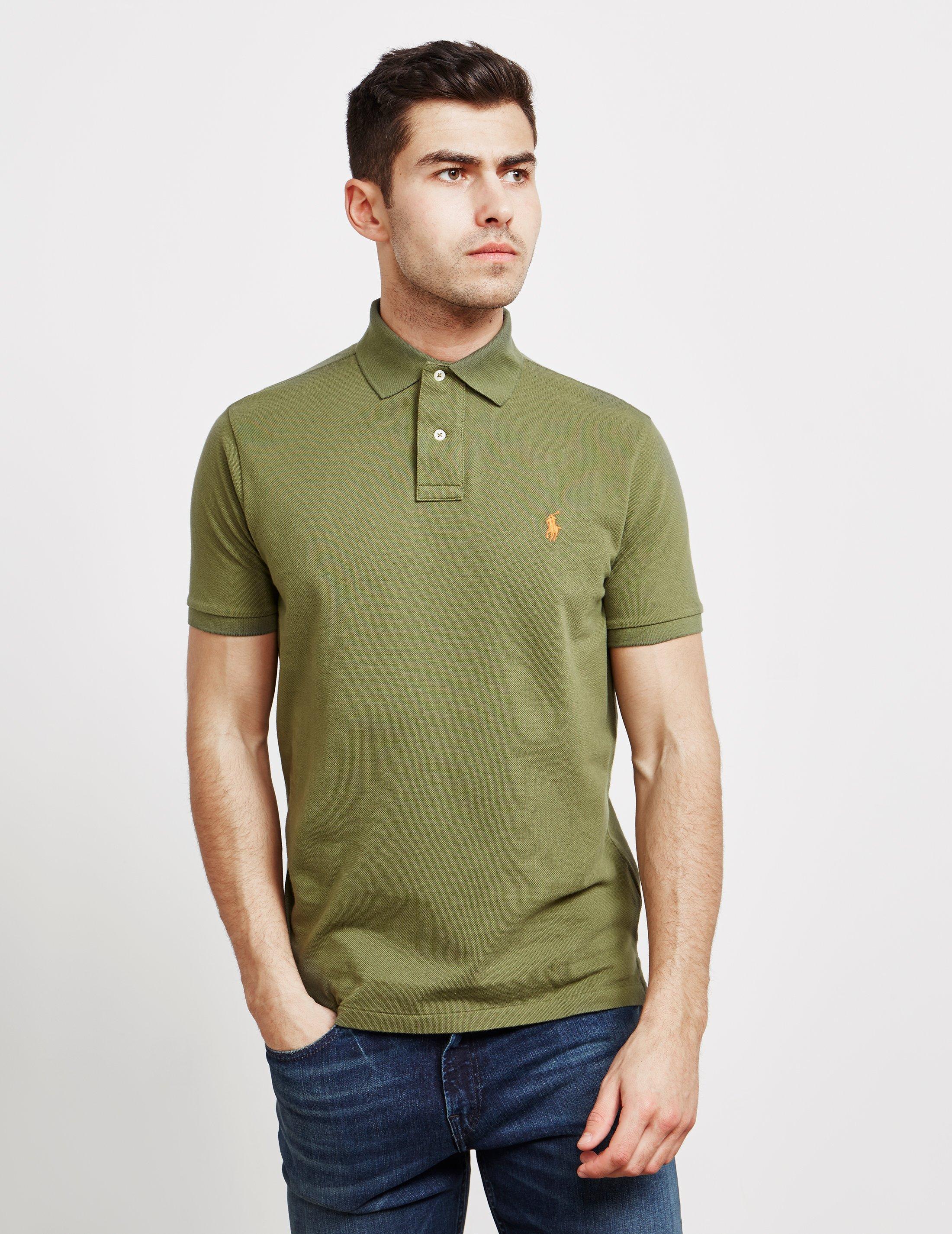 a9892ffc Polo Ralph Lauren Mens Mesh Short Sleeve Polo Shirt Green in Green ...