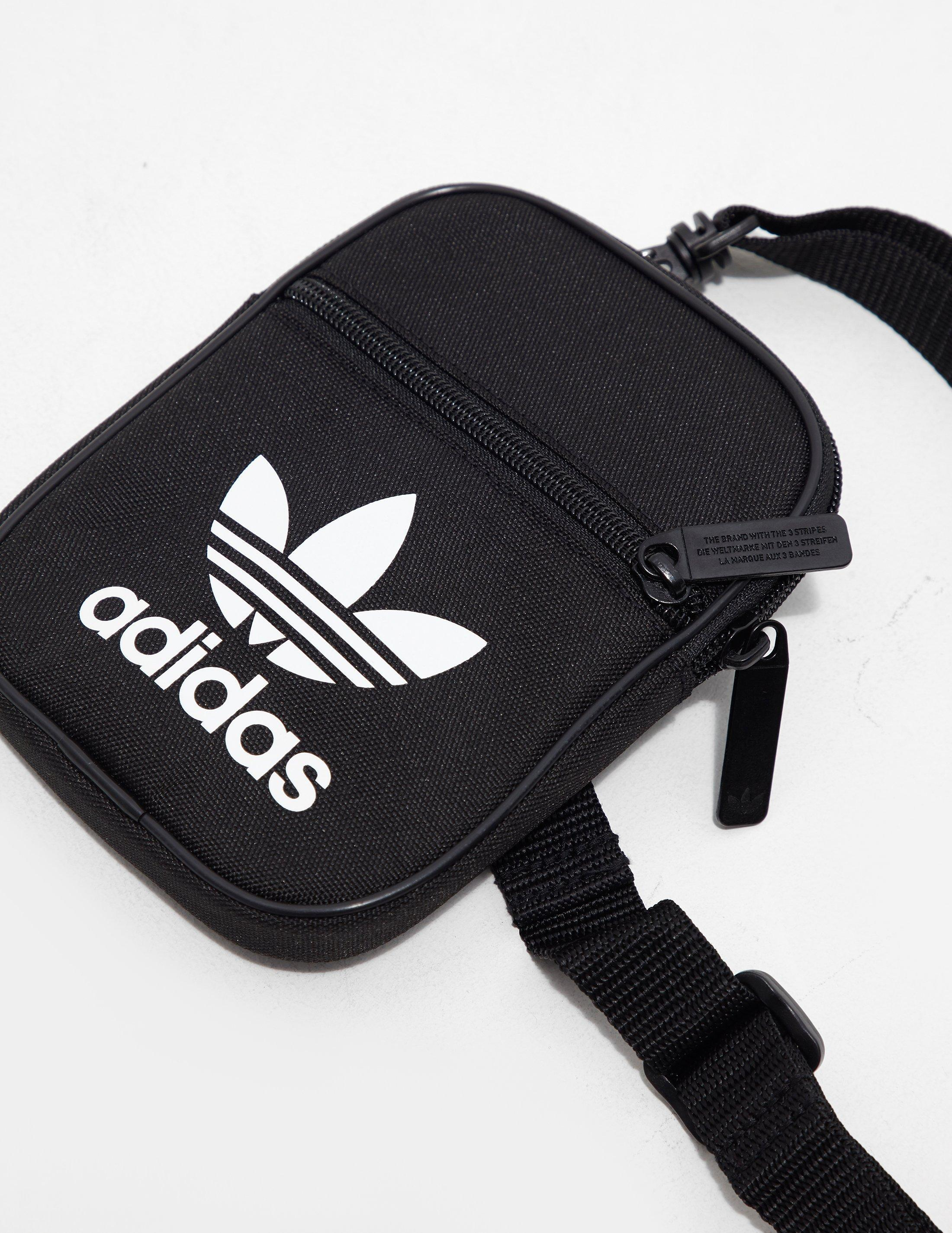 38267d6245b6 Lyst - adidas Originals Mens Trefoil Festival Bag Black white in ...