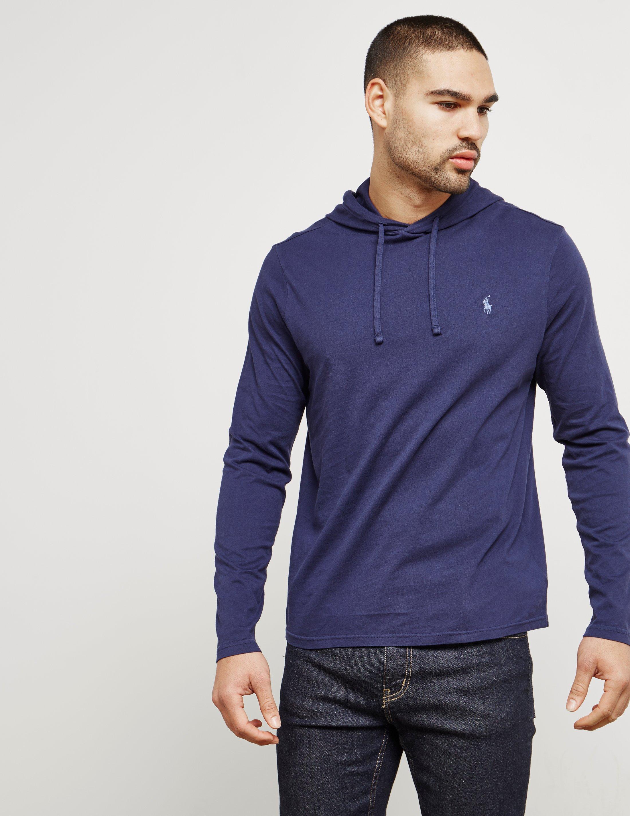 Polo Ralph Lauren. Mens Hooded Long Sleeve T-shirt ...