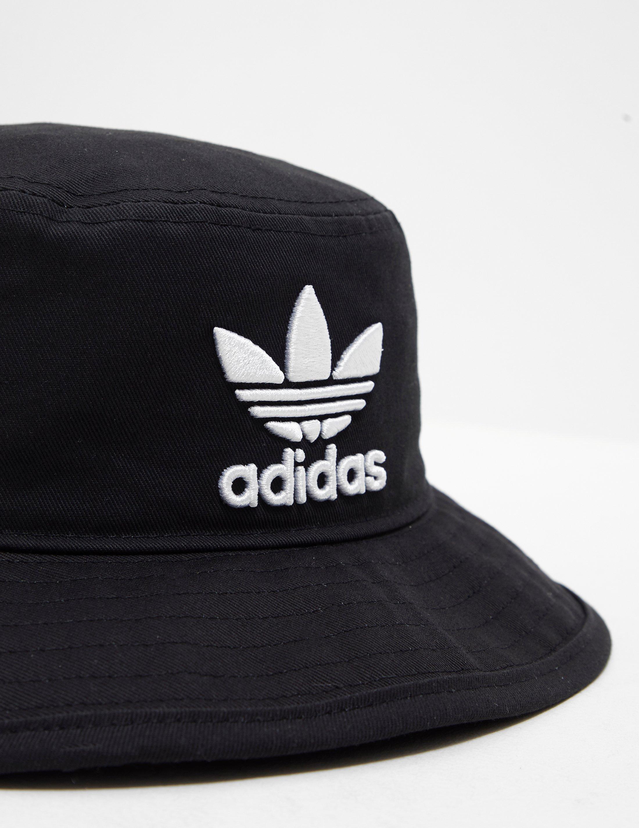 Lyst - adidas Originals Mens Trefoil Bucket Hat Black black in Black ... 09815ac1bcee