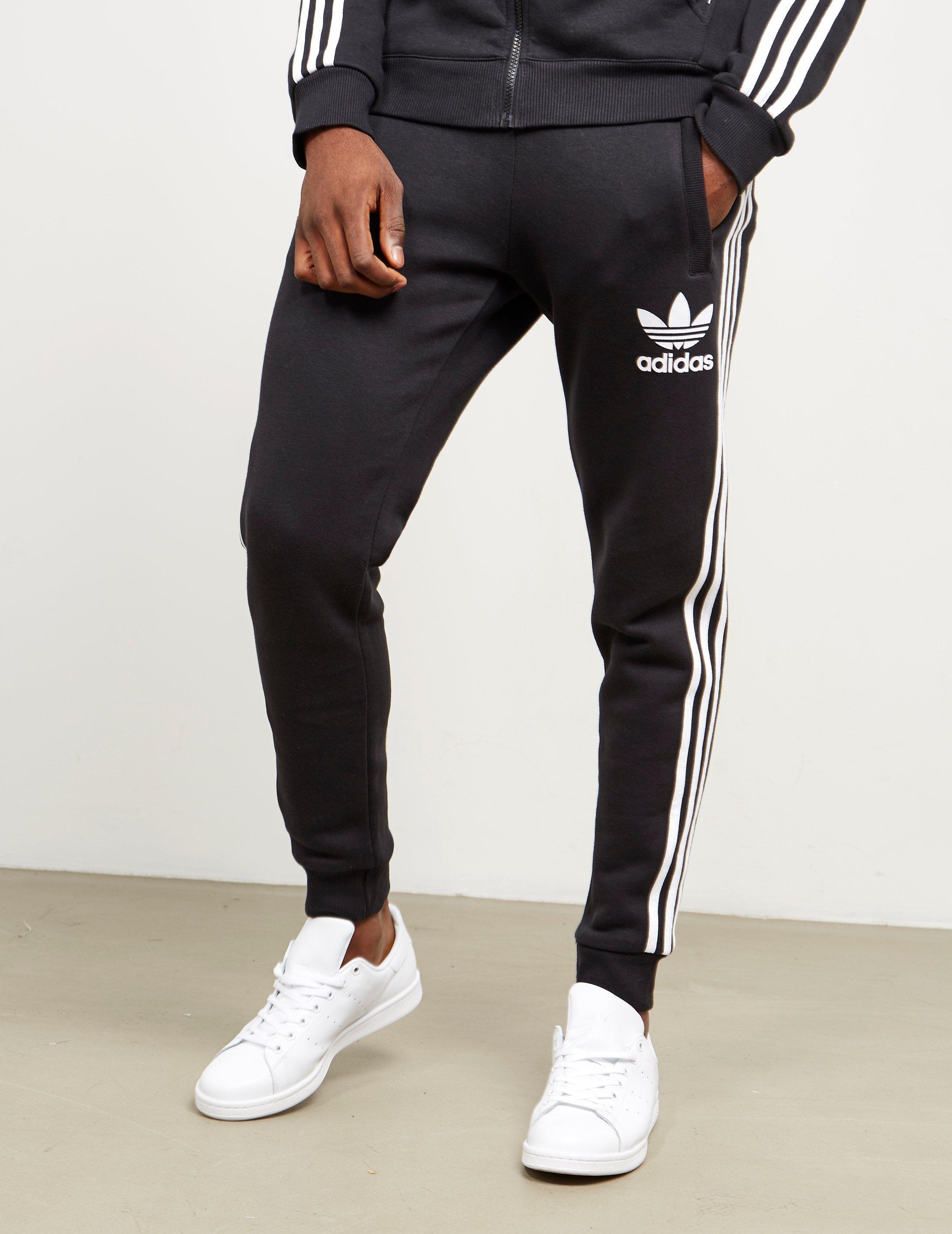 Adidas Originals Mens California Cuffed Track Pants Blackwhite for men